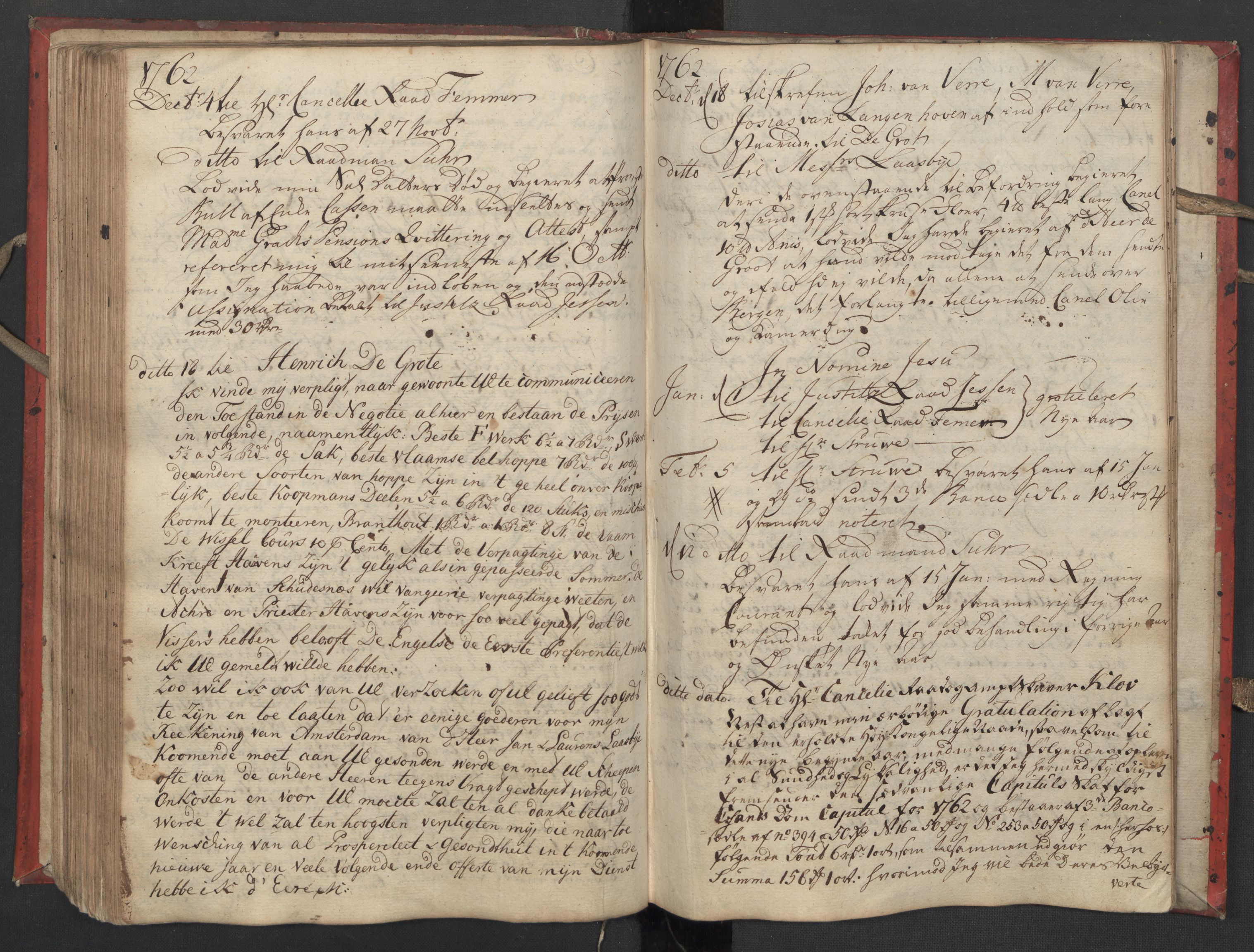 SAST, Pa 0119 - Smith, Lauritz Andersen og Lauritz Lauritzen, O/L0002: Kopibok, 1755-1766, s. 125