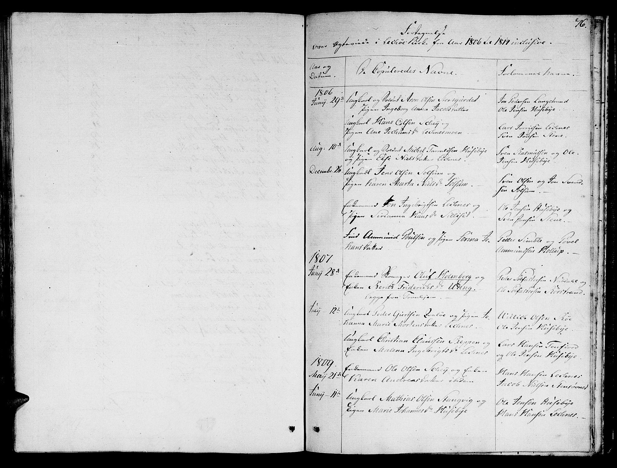 SAT, Ministerialprotokoller, klokkerbøker og fødselsregistre - Nord-Trøndelag, 780/L0633: Ministerialbok nr. 780A02 /2, 1806-1814, s. 76