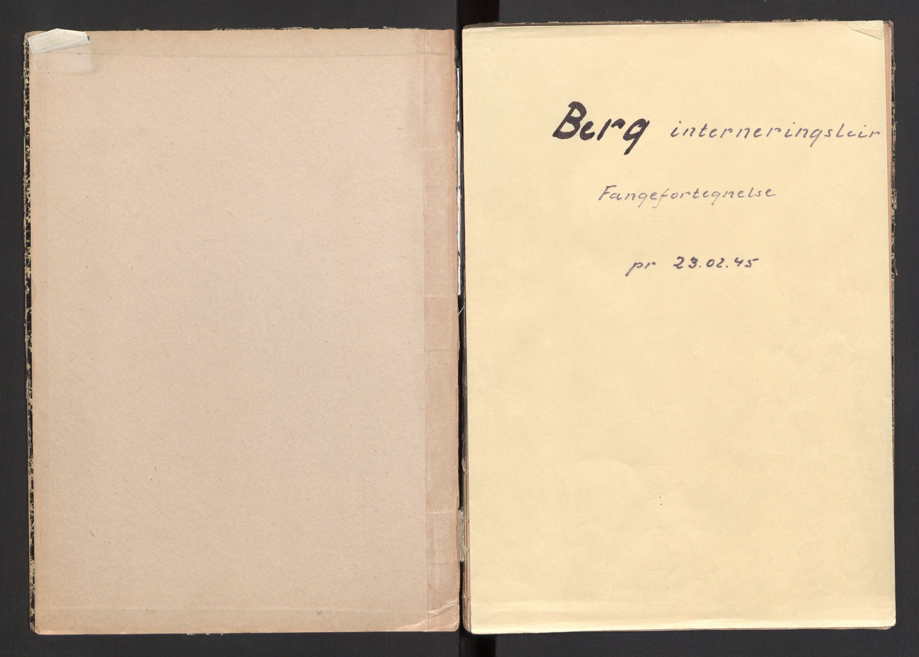 SAKO, Berg interneringsleir, G/Ga/L0001: Fangefortegnelse, 1942-1945