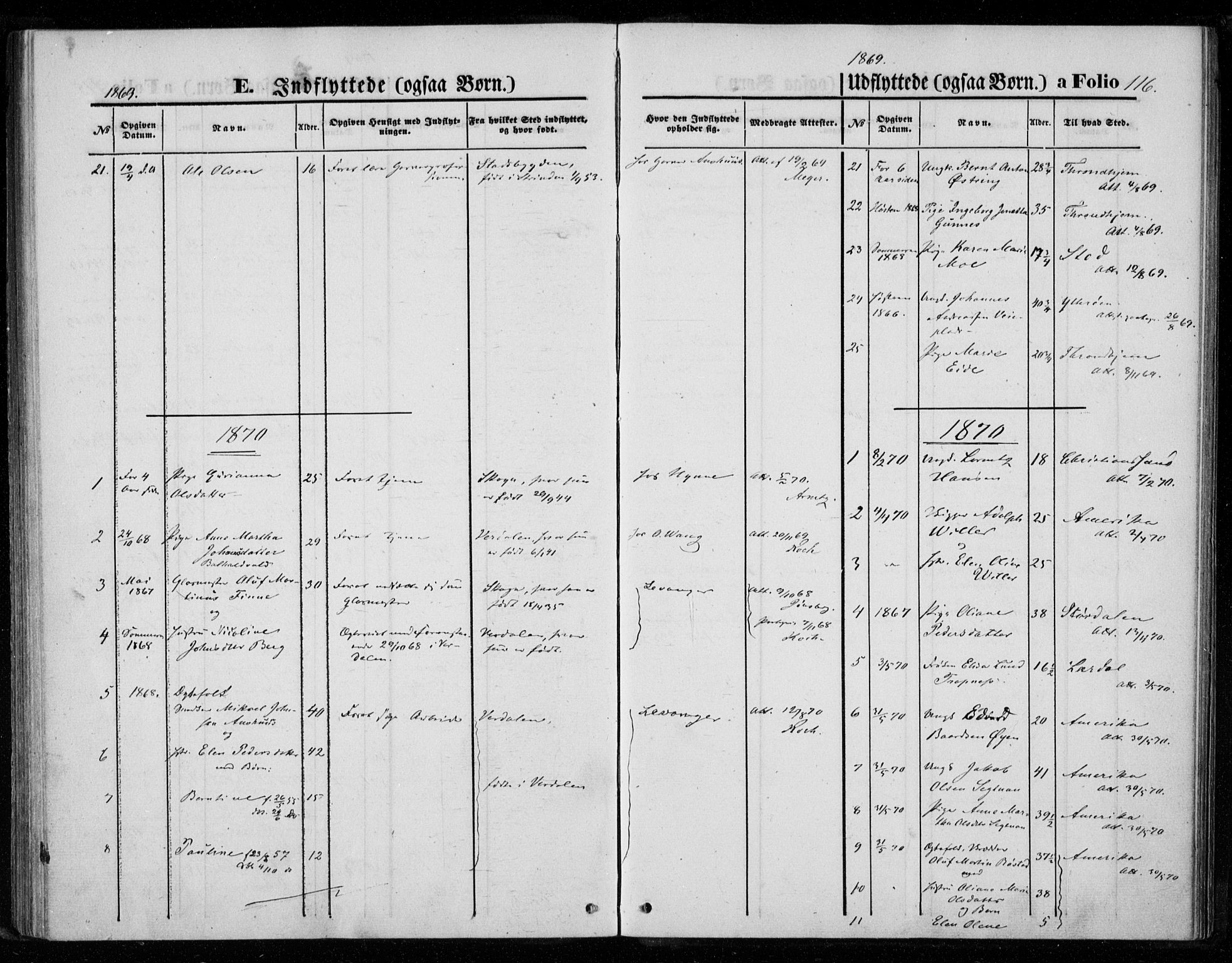 SAT, Ministerialprotokoller, klokkerbøker og fødselsregistre - Nord-Trøndelag, 720/L0186: Ministerialbok nr. 720A03, 1864-1874, s. 116