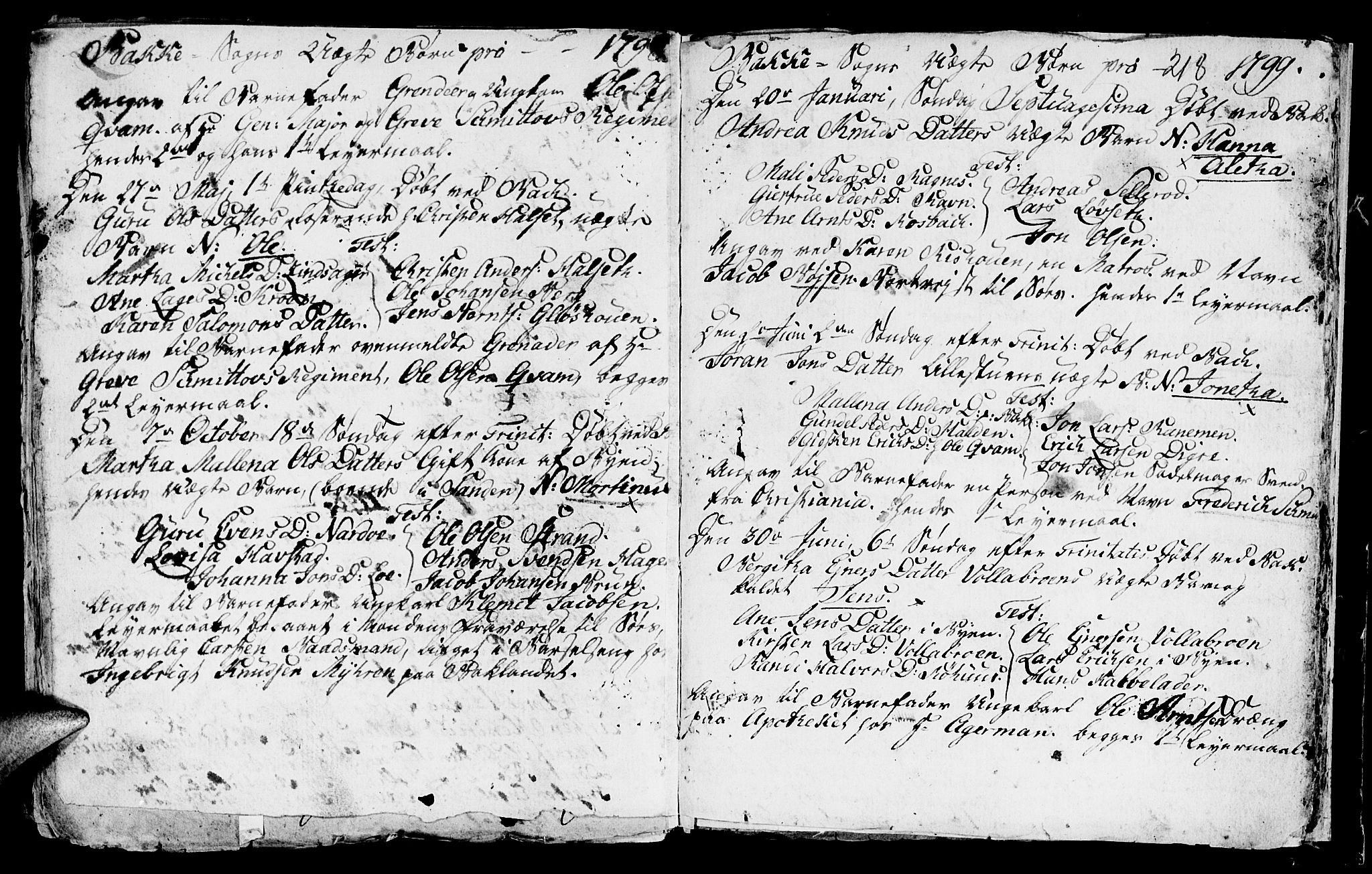 SAT, Ministerialprotokoller, klokkerbøker og fødselsregistre - Sør-Trøndelag, 604/L0218: Klokkerbok nr. 604C01, 1754-1819, s. 218
