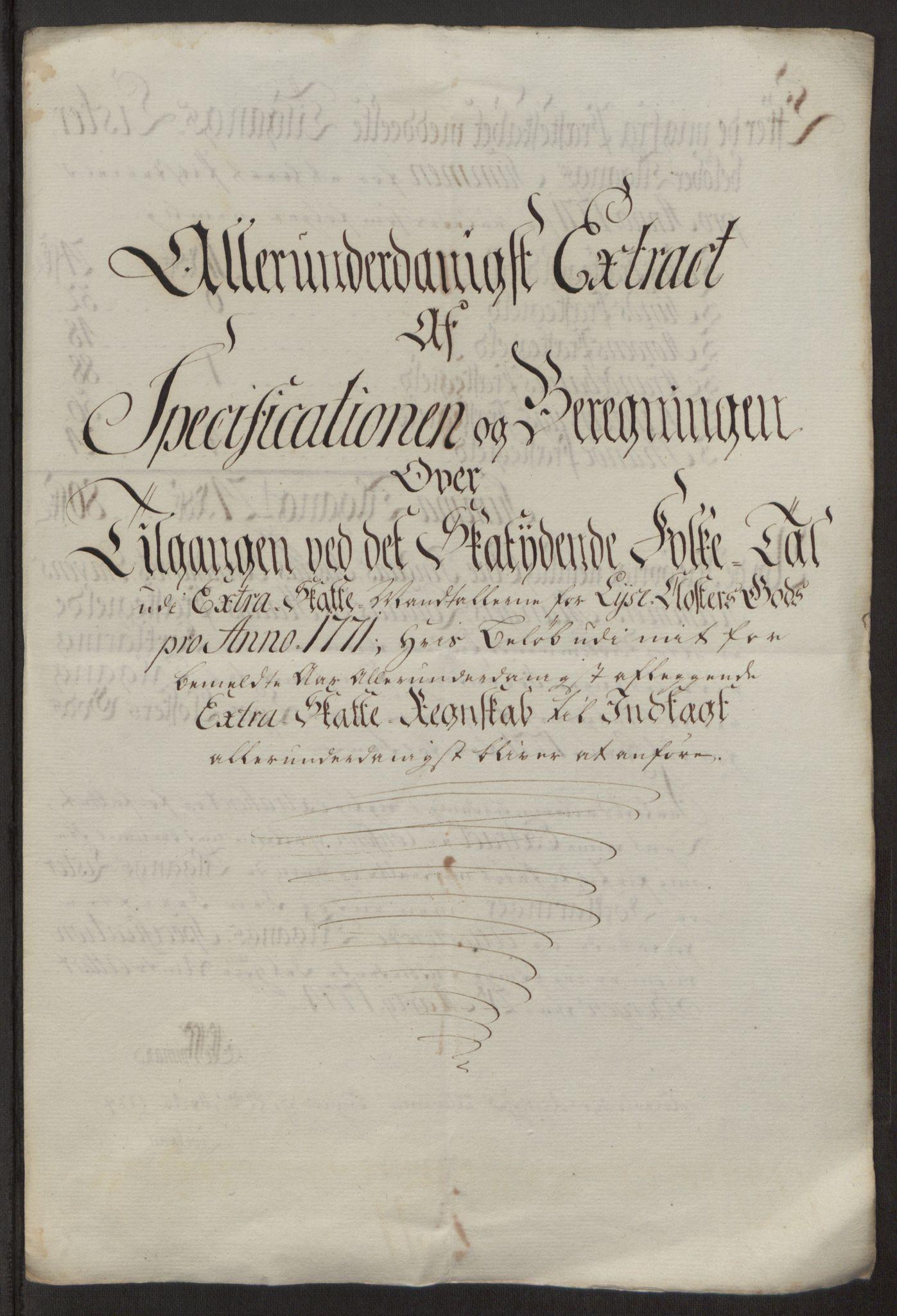 RA, Rentekammeret inntil 1814, Reviderte regnskaper, Fogderegnskap, R50/L3180: Ekstraskatten Lyse kloster, 1762-1783, s. 254