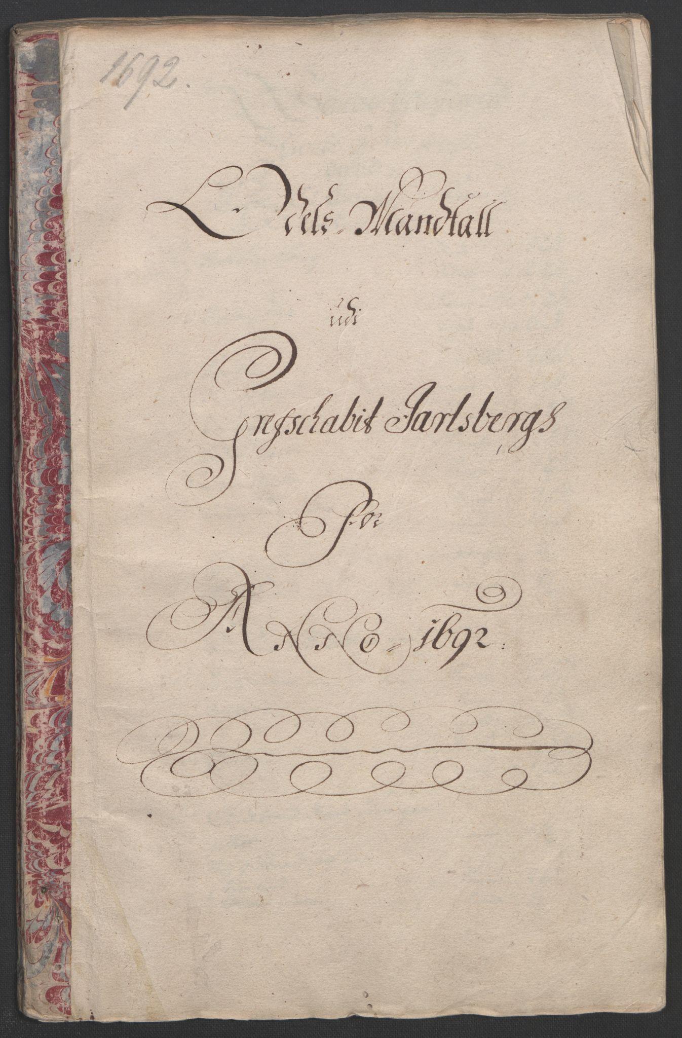 RA, Rentekammeret inntil 1814, Reviderte regnskaper, Fogderegnskap, R32/L1865: Fogderegnskap Jarlsberg grevskap, 1692, s. 145