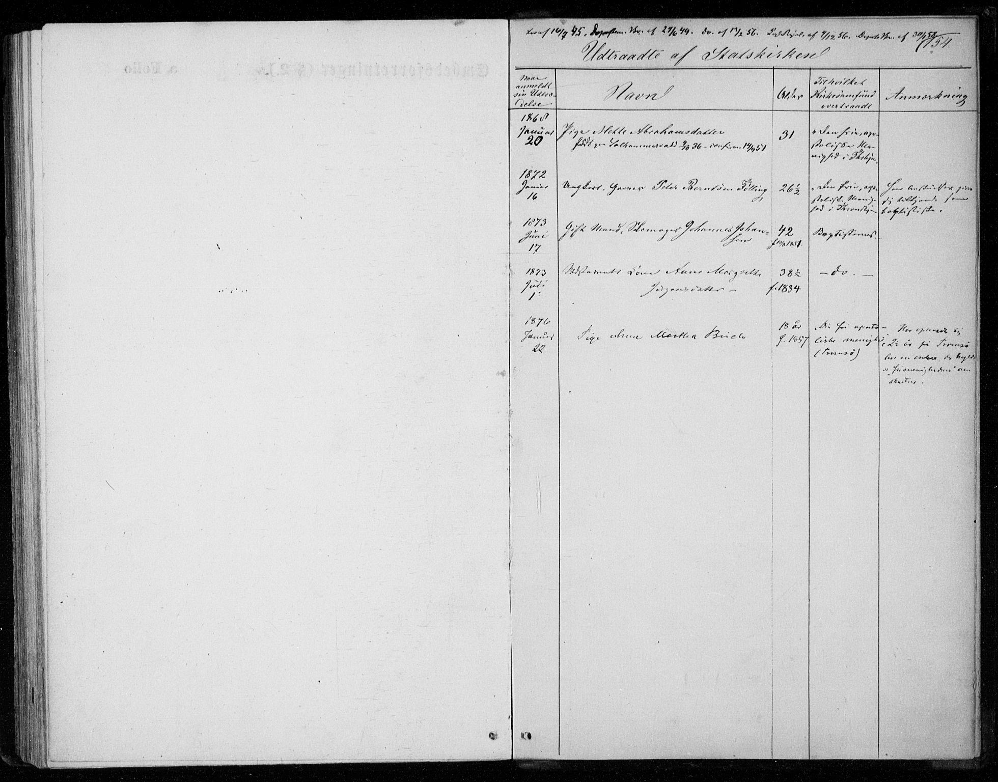 SAT, Ministerialprotokoller, klokkerbøker og fødselsregistre - Nord-Trøndelag, 720/L0186: Ministerialbok nr. 720A03, 1864-1874, s. 154