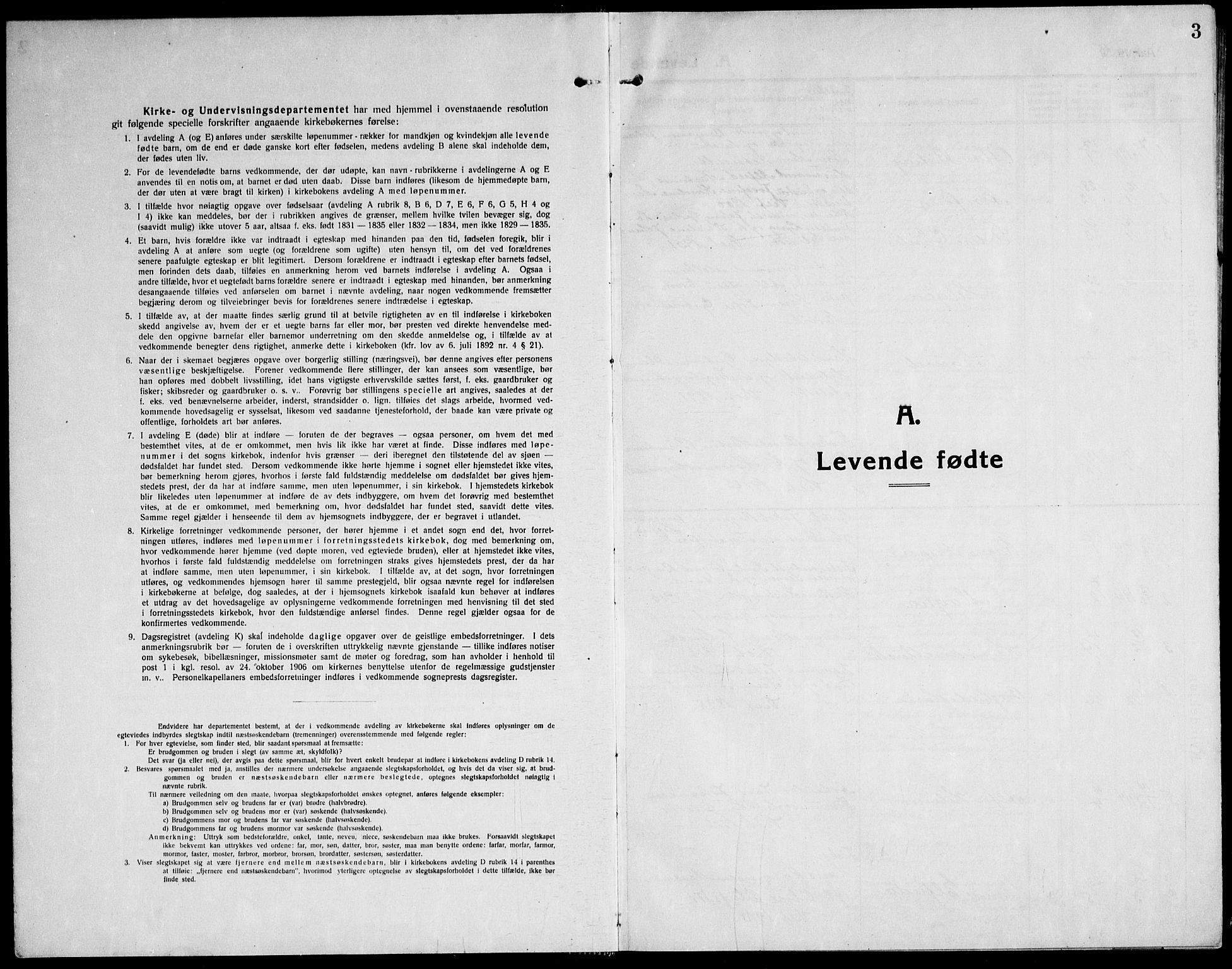 SAT, Ministerialprotokoller, klokkerbøker og fødselsregistre - Sør-Trøndelag, 651/L0648: Klokkerbok nr. 651C02, 1915-1945, s. 3