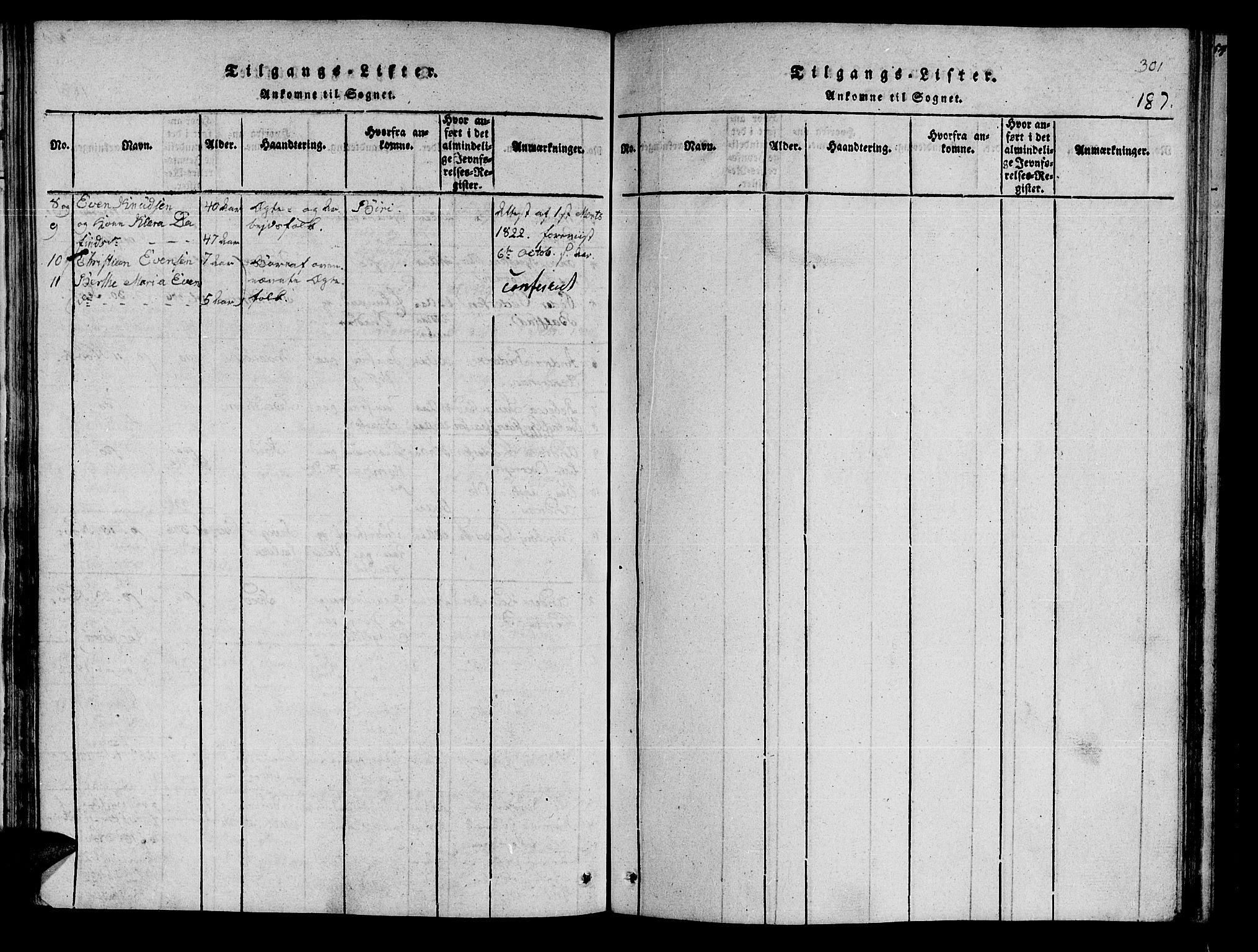 SAT, Ministerialprotokoller, klokkerbøker og fødselsregistre - Nord-Trøndelag, 741/L0387: Ministerialbok nr. 741A03 /1, 1817-1822, s. 187