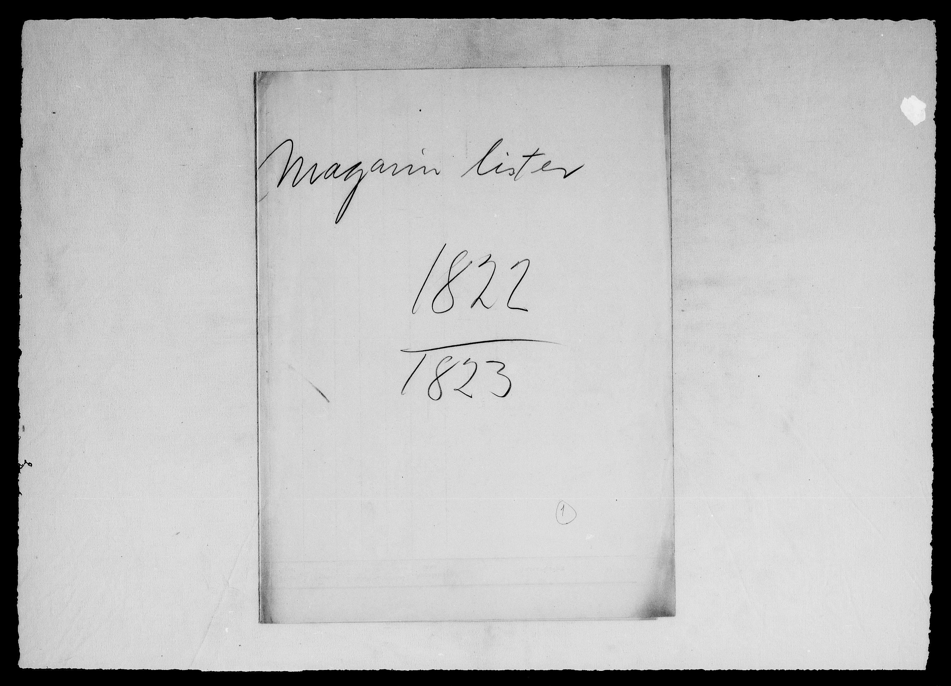 RA, Modums Blaafarveværk, G/Gd/Gdd/L0302, 1822-1831, s. 2