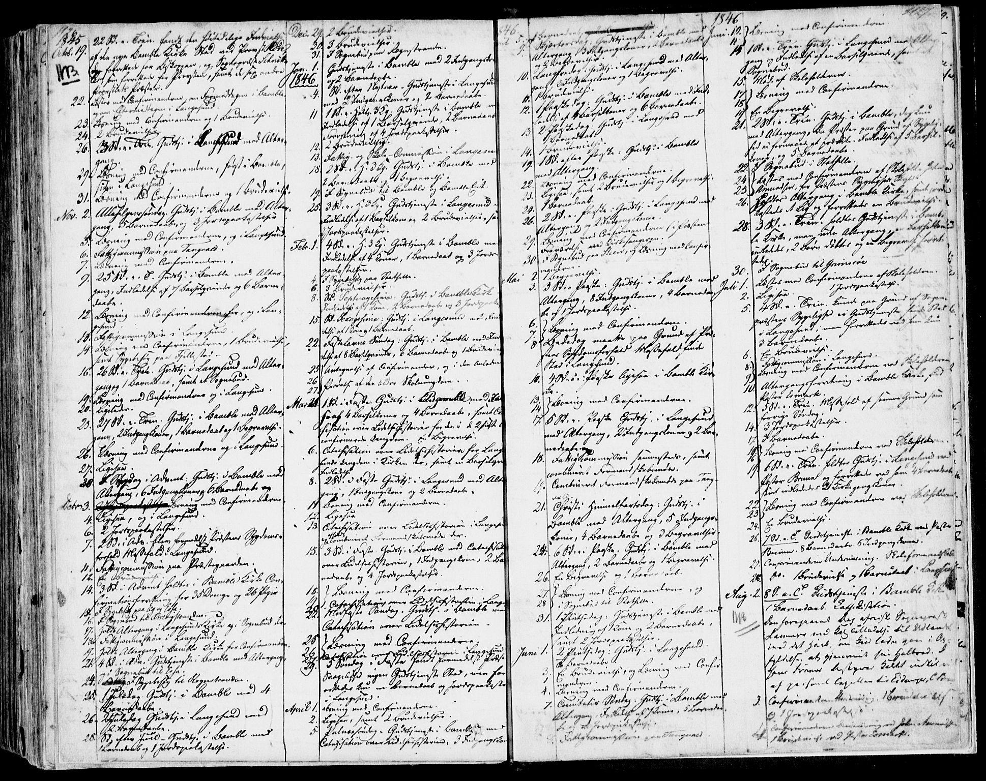 SAKO, Bamble kirkebøker, F/Fa/L0004: Ministerialbok nr. I 4, 1834-1853, s. 1126-1127