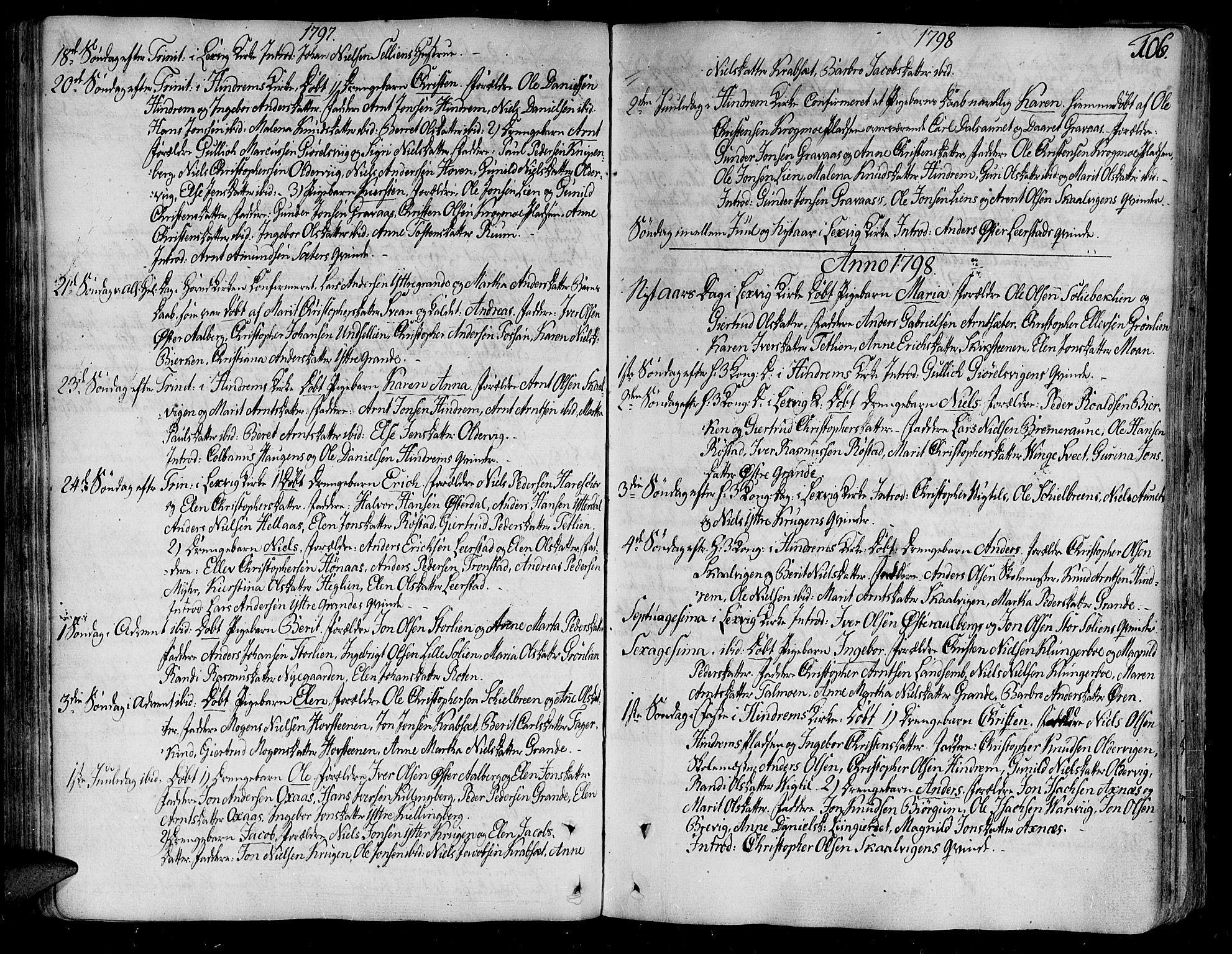 SAT, Ministerialprotokoller, klokkerbøker og fødselsregistre - Nord-Trøndelag, 701/L0004: Ministerialbok nr. 701A04, 1783-1816, s. 106