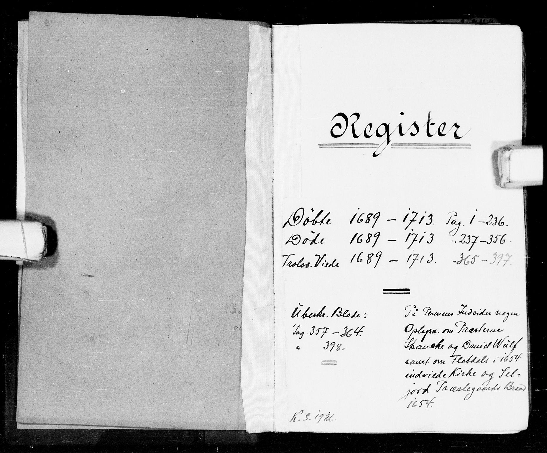 SAKO, Seljord kirkebøker, F/Fa/L0002: Ministerialbok nr. I 2, 1689-1713