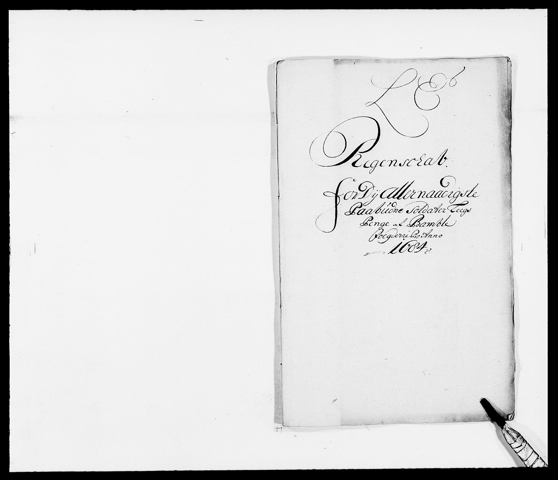 RA, Rentekammeret inntil 1814, Reviderte regnskaper, Fogderegnskap, R34/L2047: Fogderegnskap Bamble, 1684, s. 61