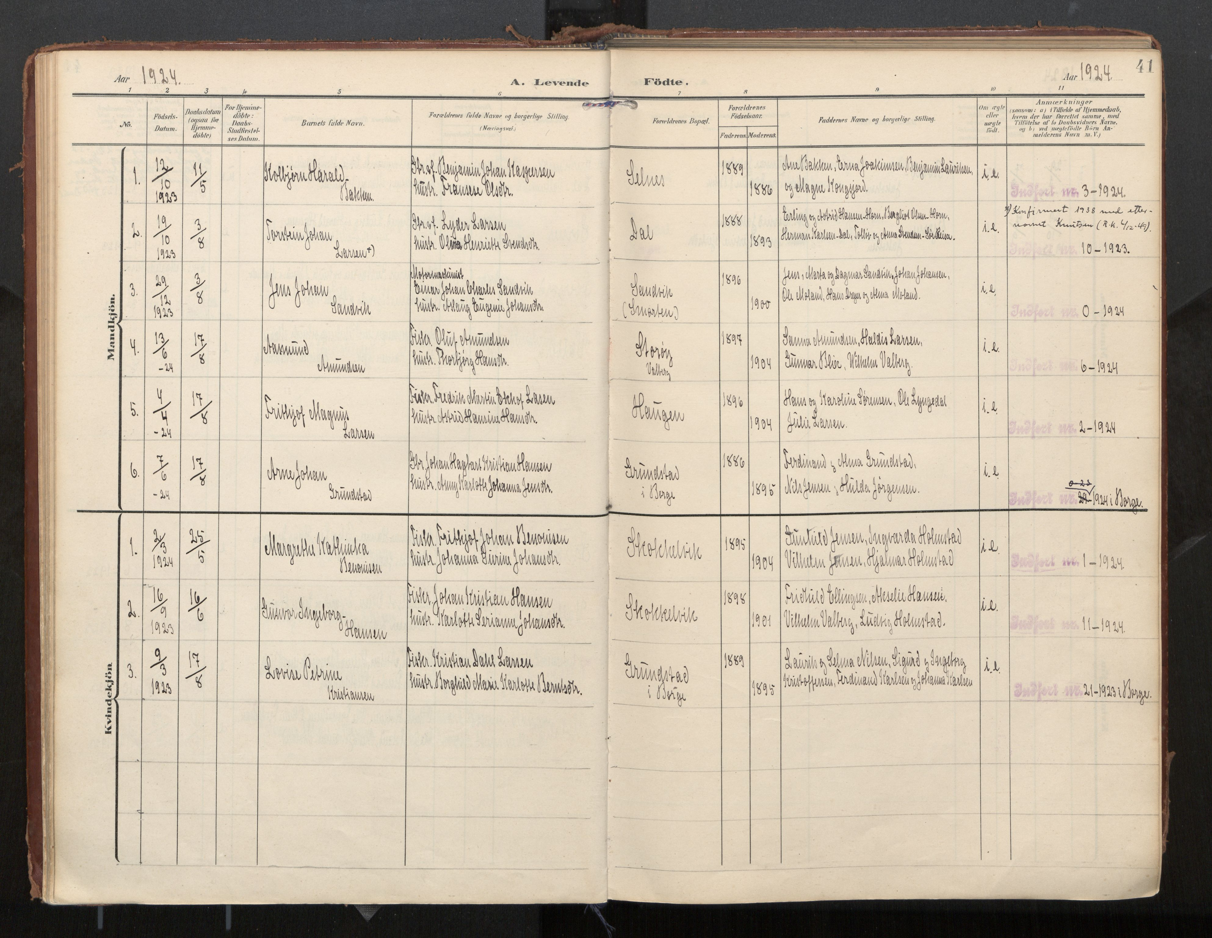 SAT, Ministerialprotokoller, klokkerbøker og fødselsregistre - Nordland, 884/L1194: Ministerialbok nr. 884A02, 1906-1937, s. 41