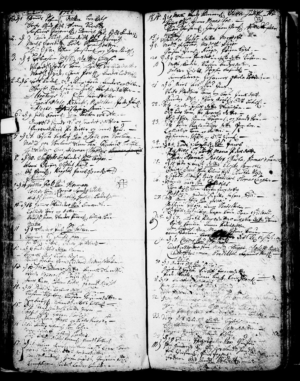 SAKO, Skien kirkebøker, F/Fa/L0002: Ministerialbok nr. 2, 1716-1757, s. 72
