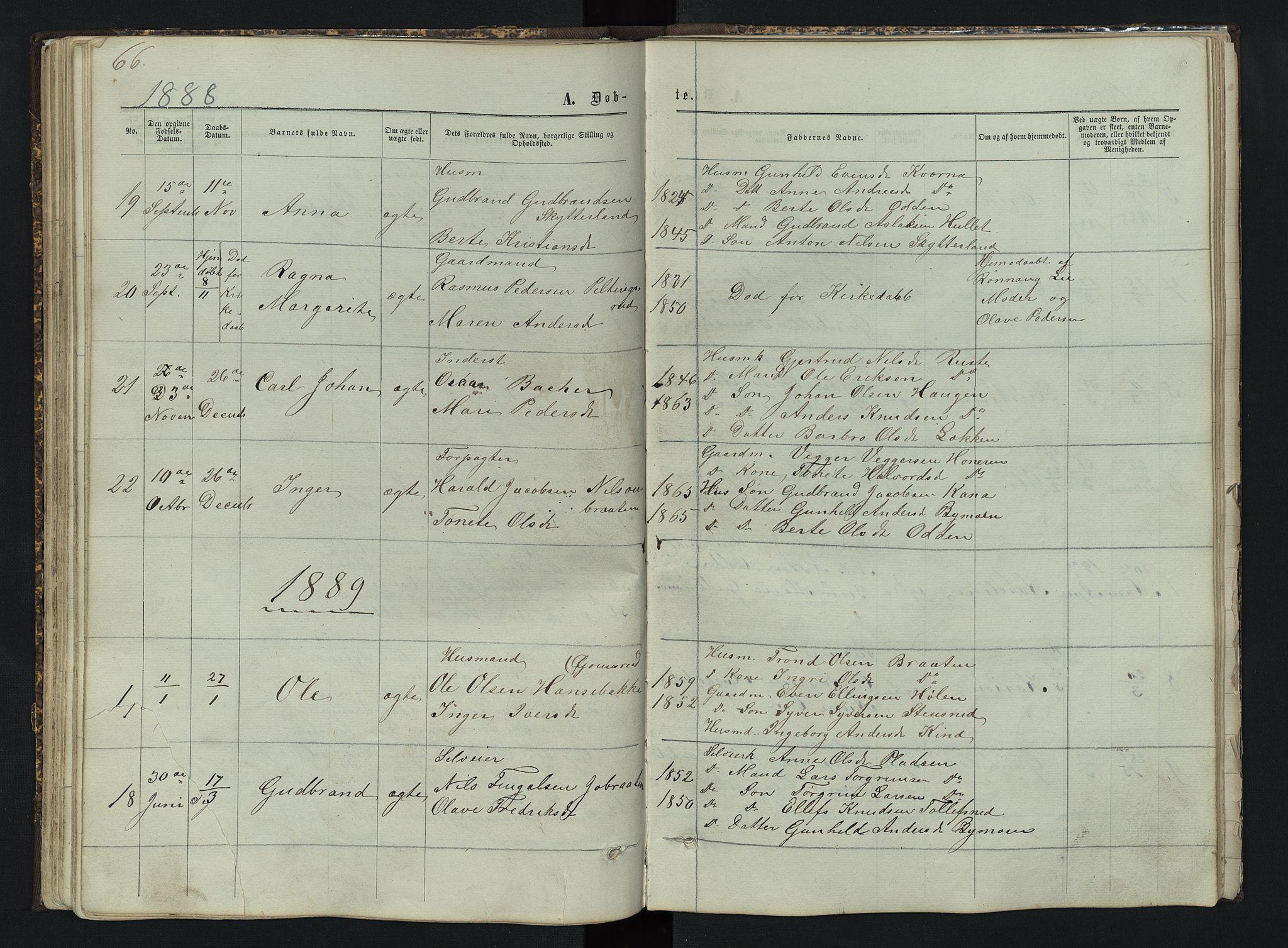 SAH, Sør-Aurdal prestekontor, Klokkerbok nr. 3, 1862-1893, s. 66