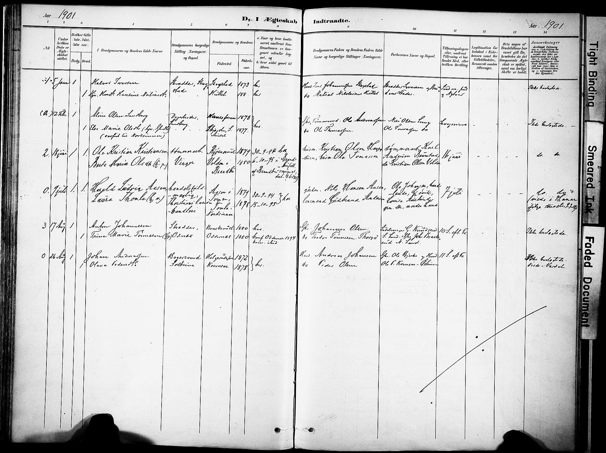 SAH, Nordre Land prestekontor, Ministerialbok nr. 6, 1897-1914, s. 91b