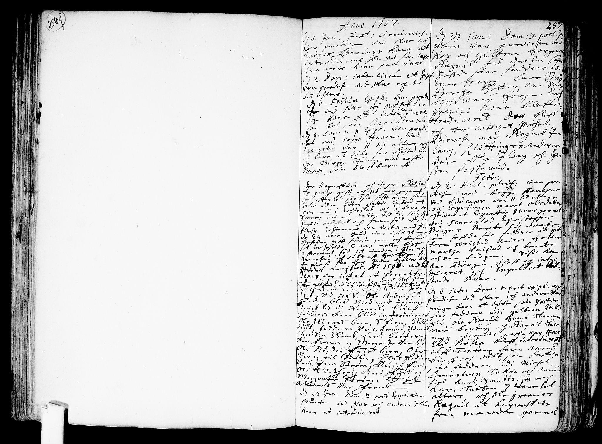 SAO, Nes prestekontor Kirkebøker, F/Fa/L0001: Ministerialbok nr. I 1, 1689-1716, s. 257