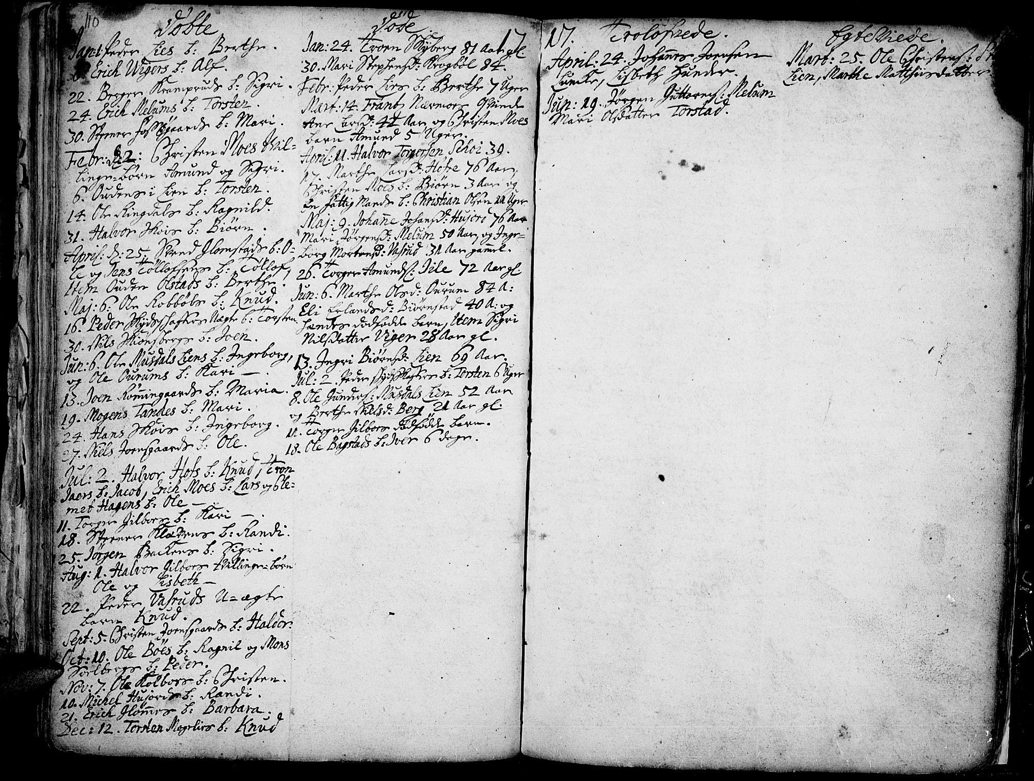 SAH, Øyer prestekontor, Ministerialbok nr. 1, 1671-1727, s. 110-111