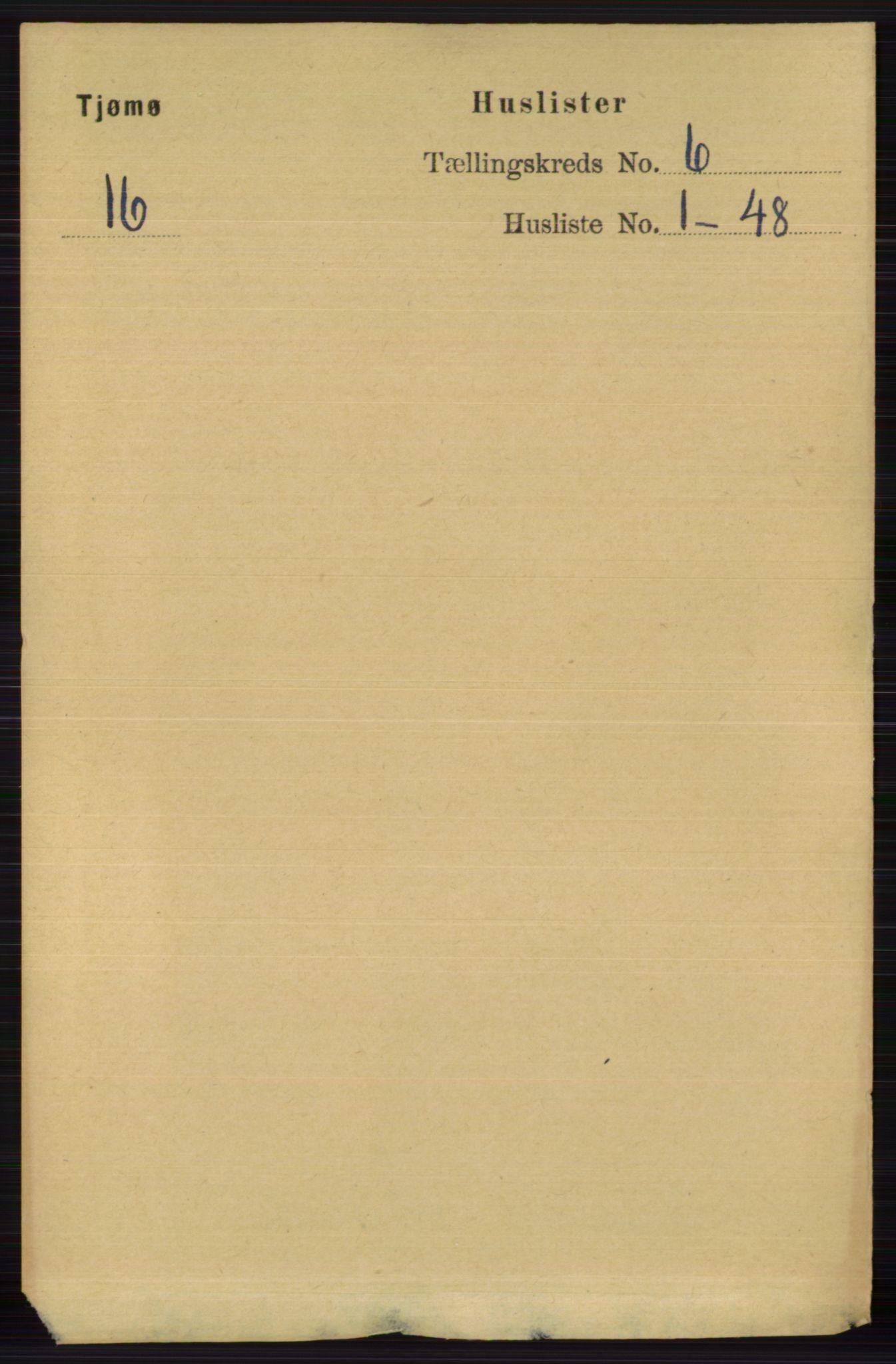 RA, Folketelling 1891 for 0723 Tjøme herred, 1891, s. 2058