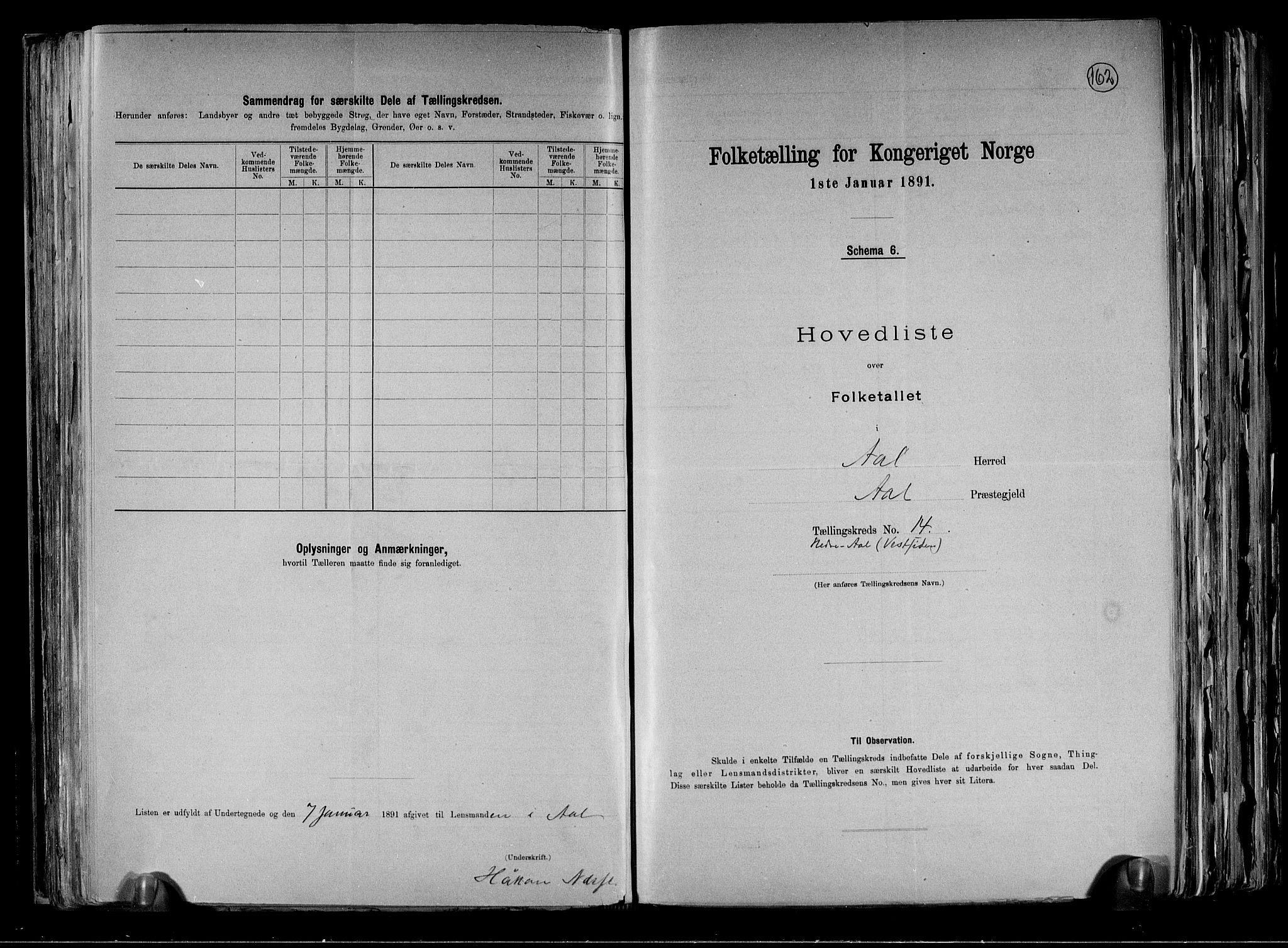 RA, Folketelling 1891 for 0619 Ål herred, 1891, s. 32