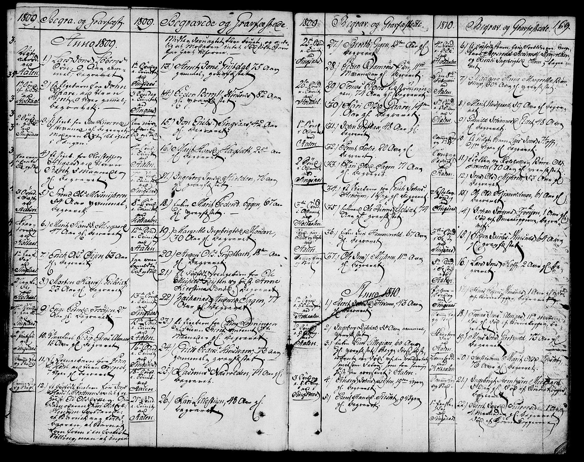 SAT, Ministerialprotokoller, klokkerbøker og fødselsregistre - Sør-Trøndelag, 685/L0953: Ministerialbok nr. 685A02, 1805-1816, s. 169
