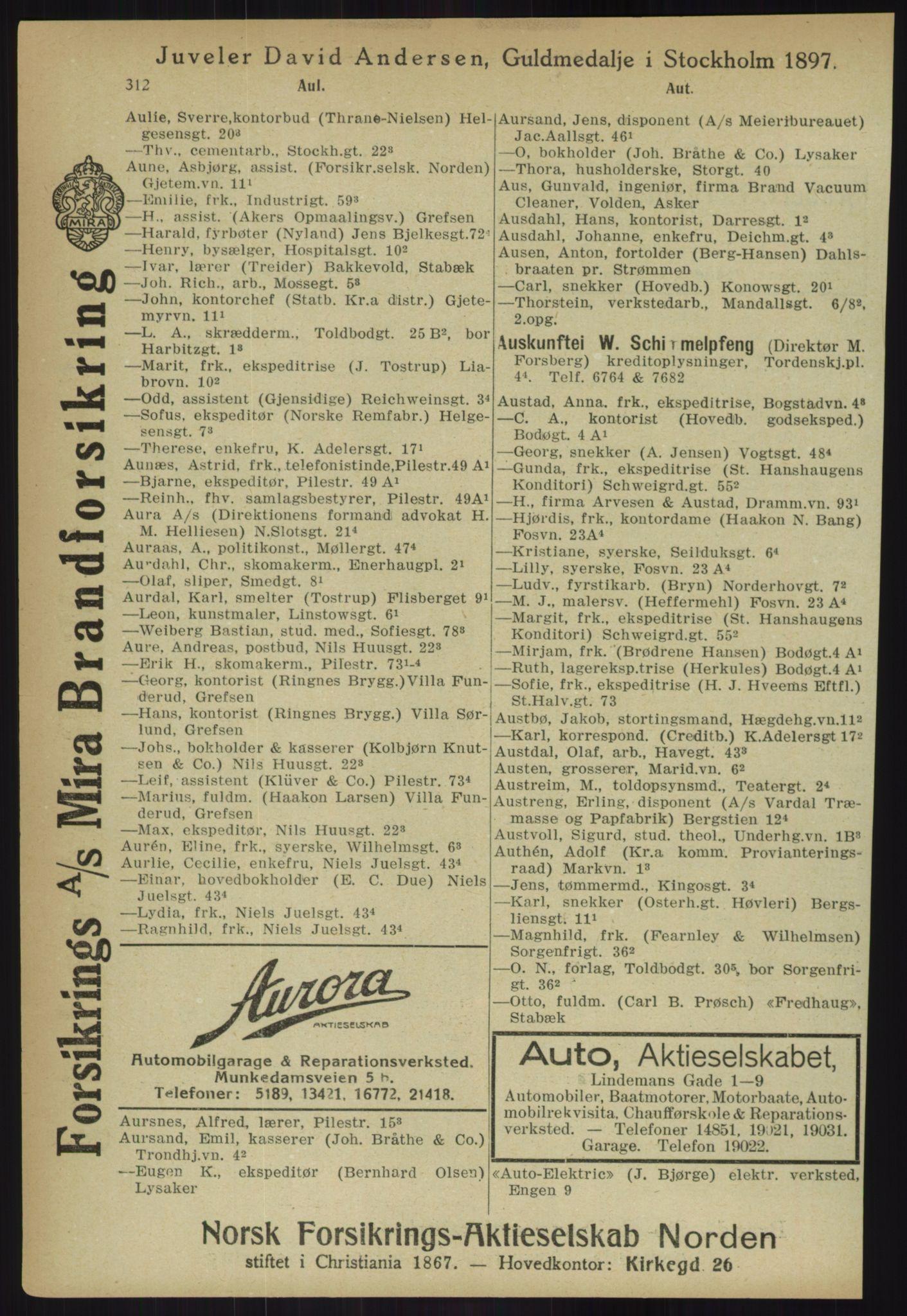 PUBL, Kristiania/Oslo adressebok, 1918, s. 337