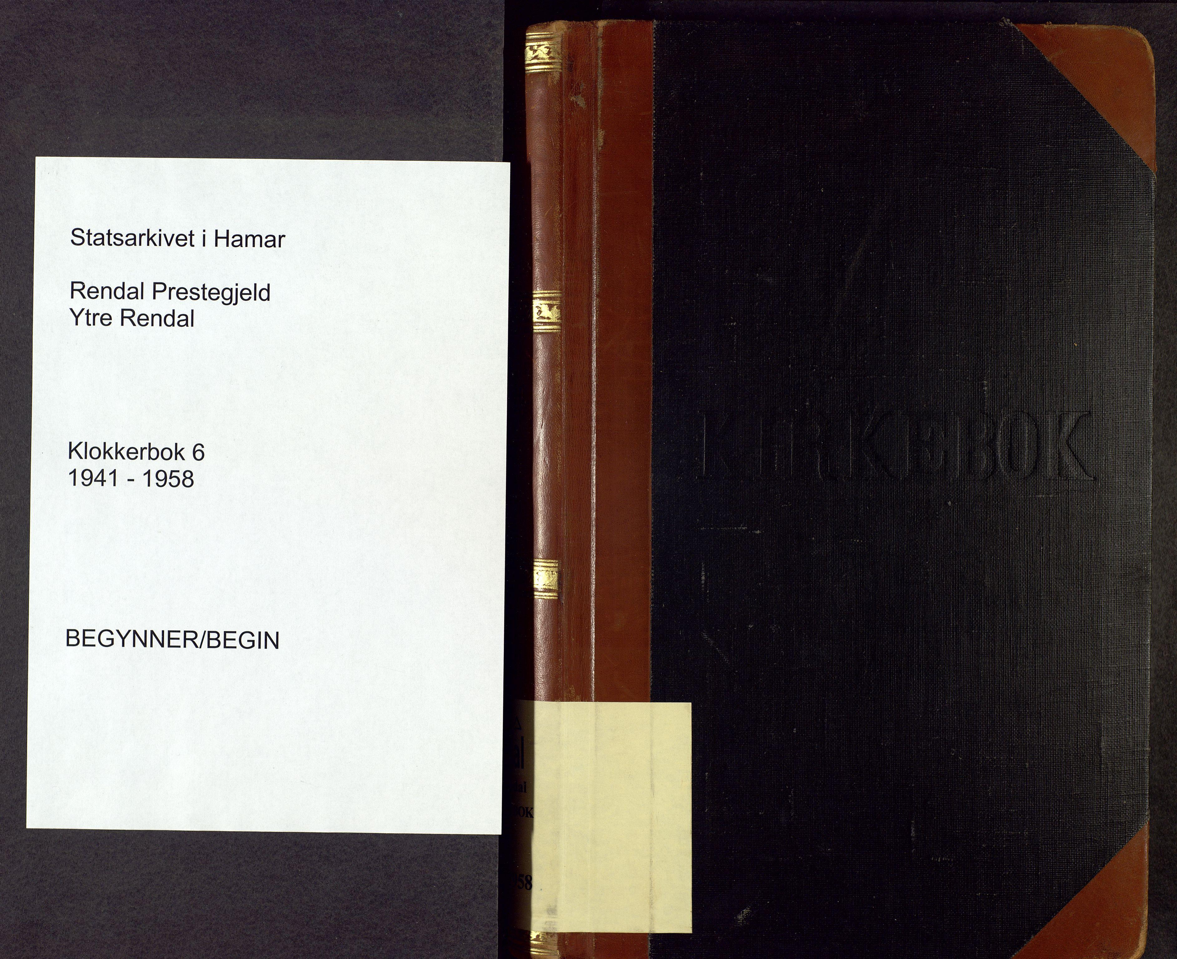 SAH, Rendalen prestekontor, H/Ha/Hab/L0006: Klokkerbok nr. 6, 1941-1958