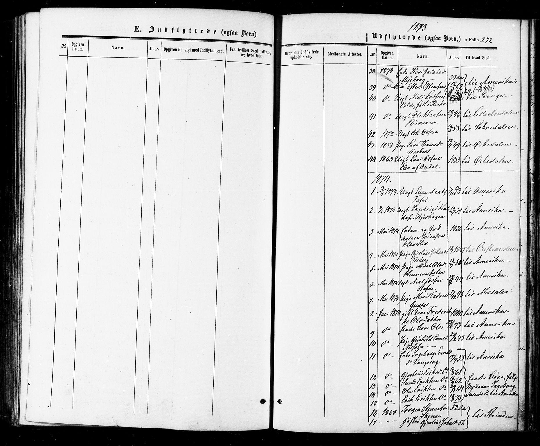 SAT, Ministerialprotokoller, klokkerbøker og fødselsregistre - Sør-Trøndelag, 674/L0870: Ministerialbok nr. 674A02, 1861-1879, s. 272