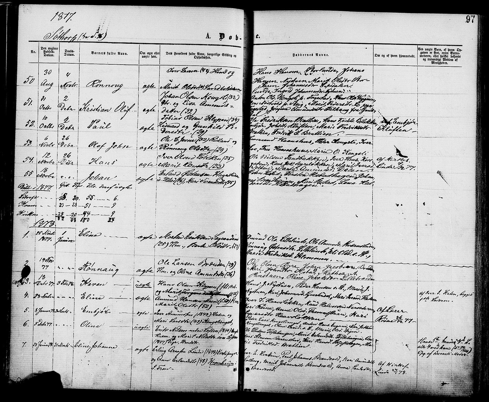 SAH, Nord-Fron prestekontor, Ministerialbok nr. 2, 1865-1883, s. 97