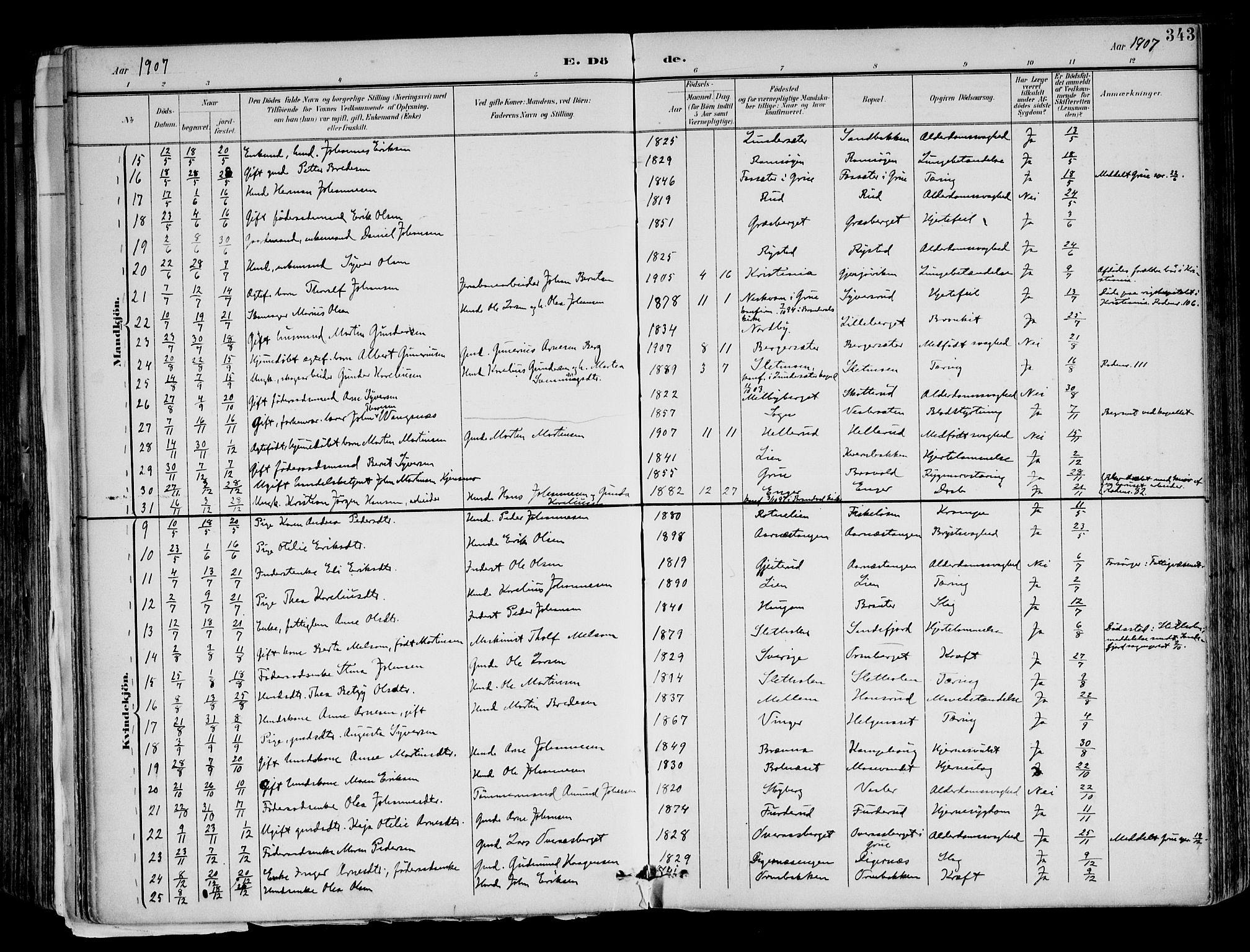 SAH, Brandval prestekontor, H/Ha/Haa/L0003: Ministerialbok nr. 3, 1894-1909, s. 343