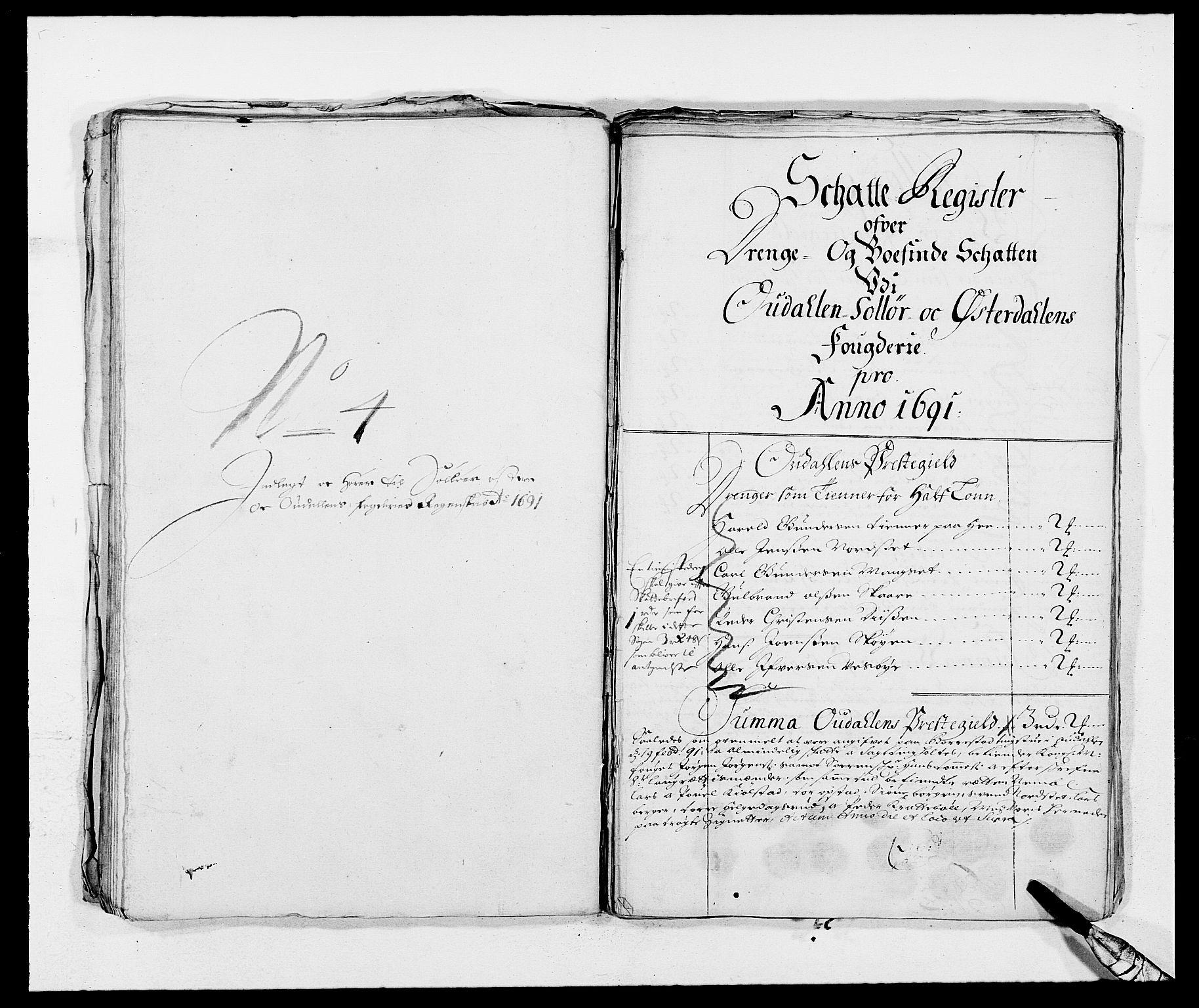RA, Rentekammeret inntil 1814, Reviderte regnskaper, Fogderegnskap, R13/L0829: Fogderegnskap Solør, Odal og Østerdal, 1691, s. 320
