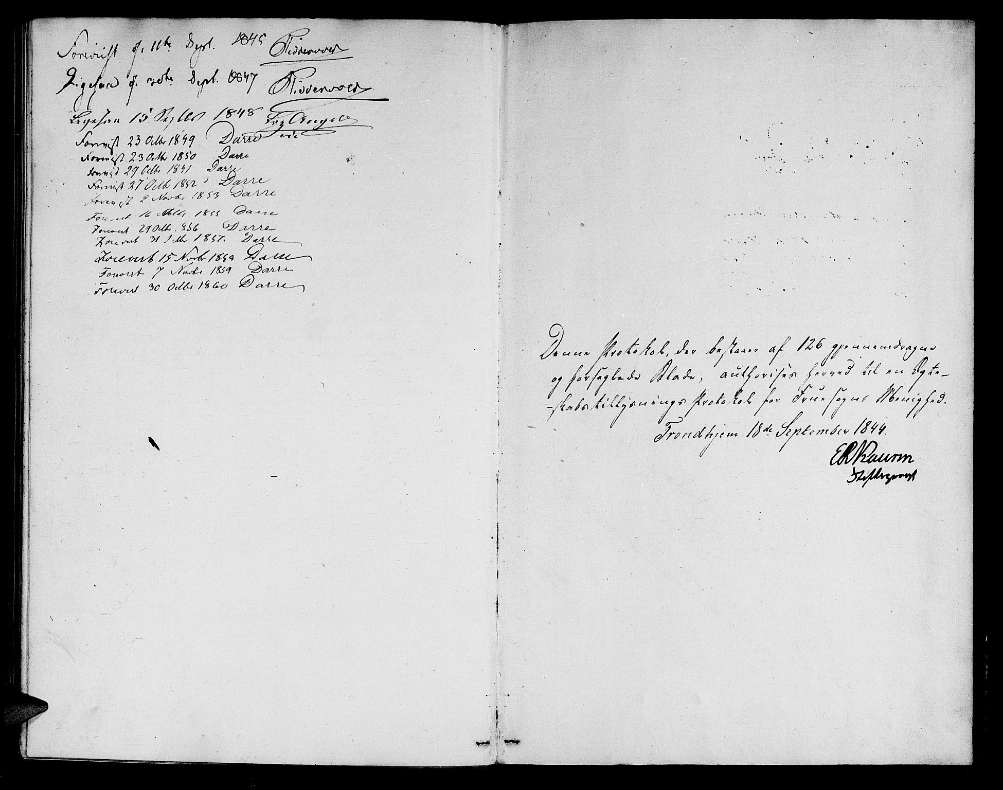 SAT, Ministerialprotokoller, klokkerbøker og fødselsregistre - Sør-Trøndelag, 602/L0111: Ministerialbok nr. 602A09, 1844-1867