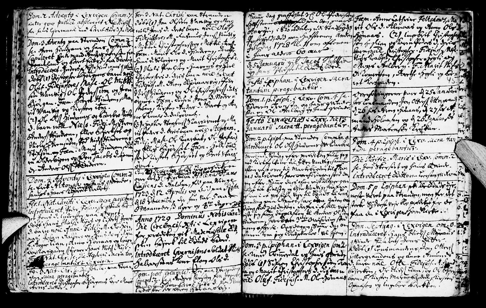 SAT, Ministerialprotokoller, klokkerbøker og fødselsregistre - Nord-Trøndelag, 701/L0001: Ministerialbok nr. 701A01, 1717-1731, s. 45