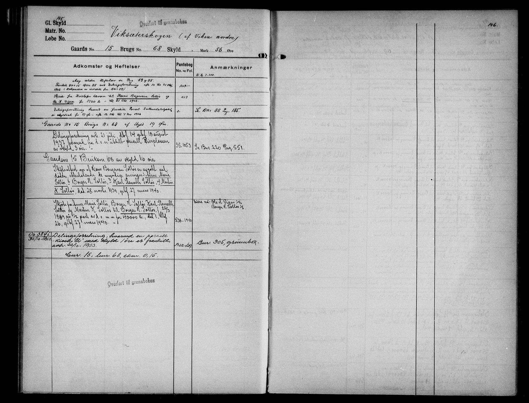 SAKO, Eiker, Modum og Sigdal sorenskriveri, G/Gb/Gbf/L0003: Panteregister nr. VI 3, s. 145-146