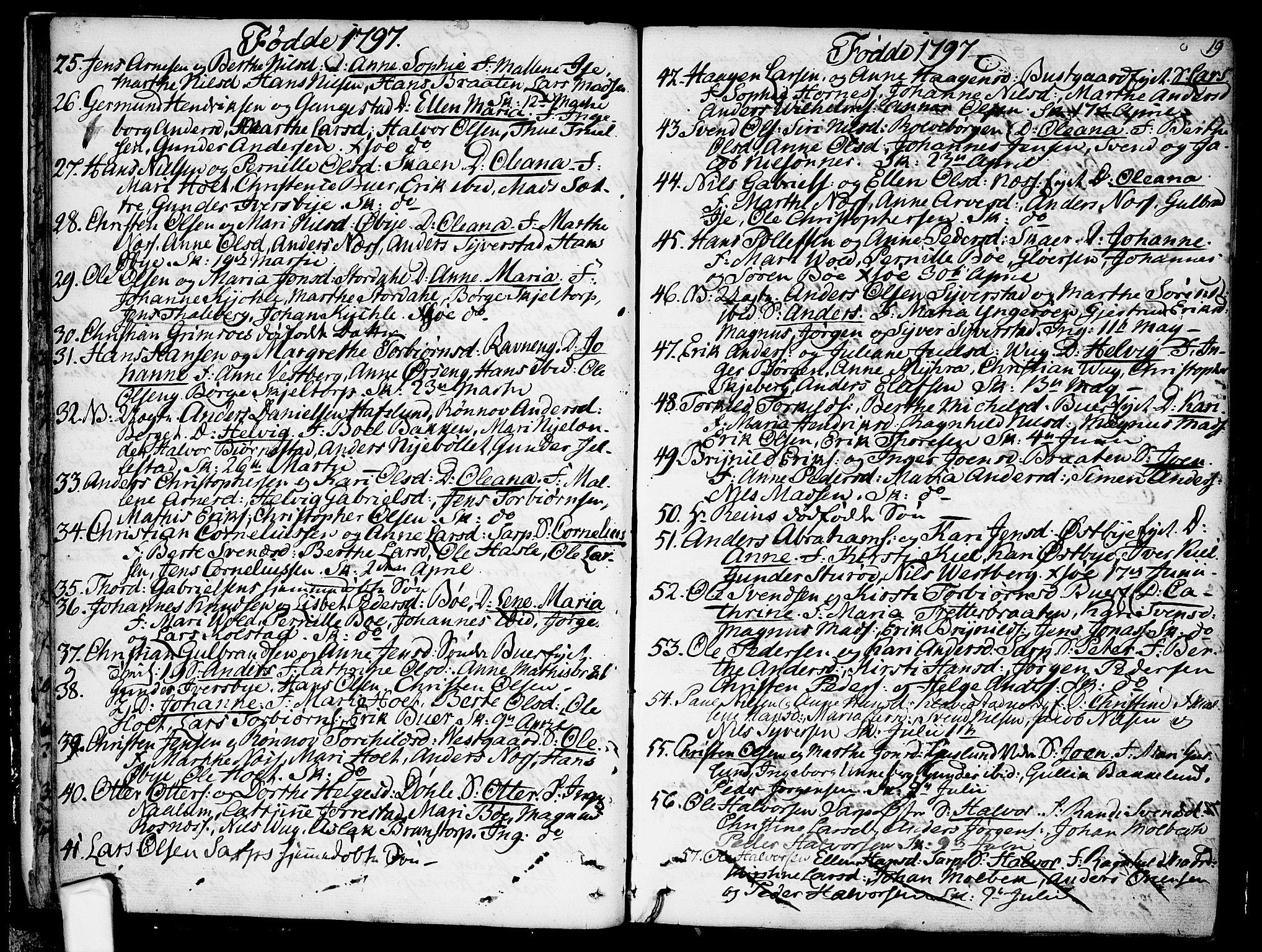 SAO, Skjeberg prestekontor Kirkebøker, F/Fa/L0003: Ministerialbok nr. I 3, 1792-1814, s. 19