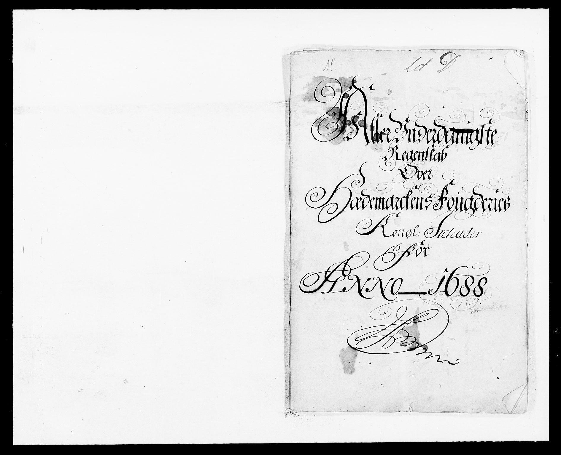 RA, Rentekammeret inntil 1814, Reviderte regnskaper, Fogderegnskap, R16/L1029: Fogderegnskap Hedmark, 1688, s. 1