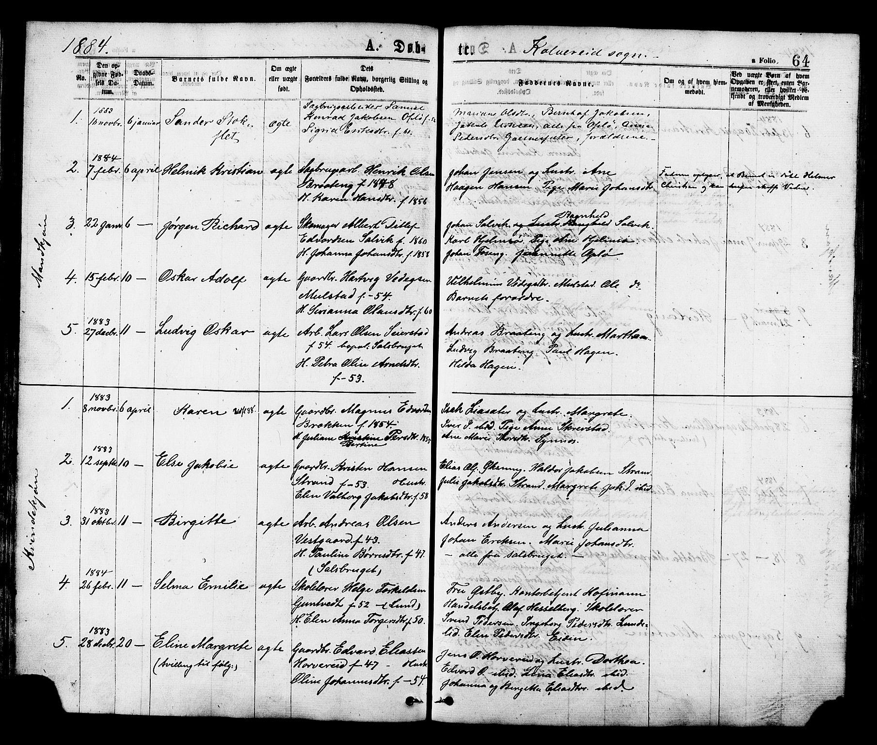 SAT, Ministerialprotokoller, klokkerbøker og fødselsregistre - Nord-Trøndelag, 780/L0642: Ministerialbok nr. 780A07 /1, 1874-1885, s. 64