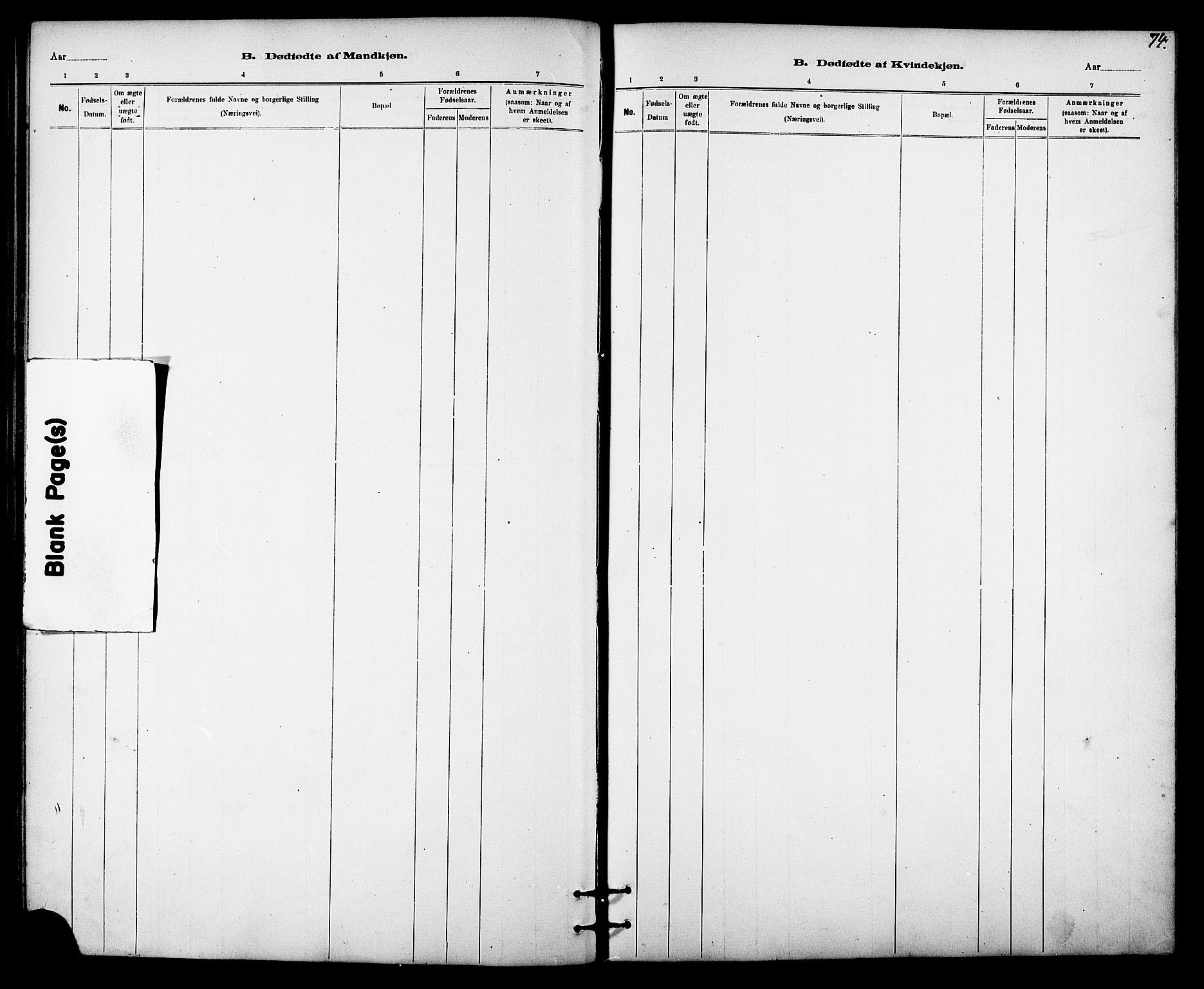 SAT, Ministerialprotokoller, klokkerbøker og fødselsregistre - Sør-Trøndelag, 613/L0395: Klokkerbok nr. 613C03, 1887-1909, s. 74
