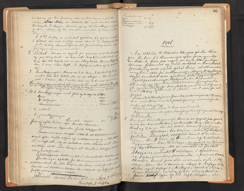 SAB, Lensmannen i Bremanger, 0012/L0002: Branntakstprotokoll, 1879-1947, s. 95b-96a