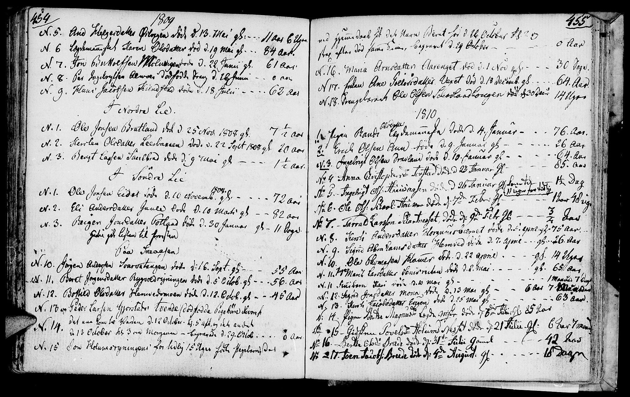 SAT, Ministerialprotokoller, klokkerbøker og fødselsregistre - Nord-Trøndelag, 749/L0468: Ministerialbok nr. 749A02, 1787-1817, s. 454-455