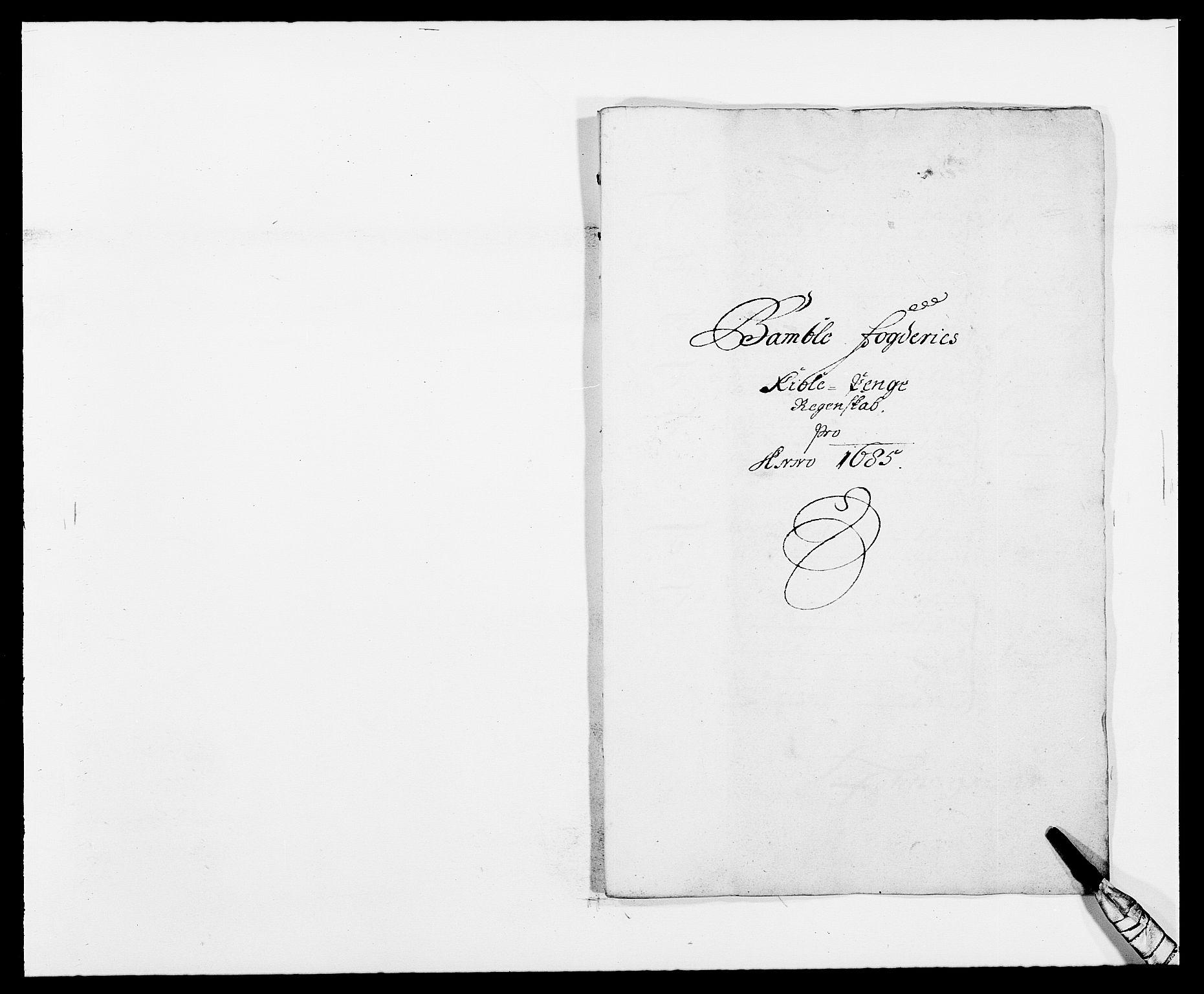 RA, Rentekammeret inntil 1814, Reviderte regnskaper, Fogderegnskap, R34/L2048: Fogderegnskap Bamble, 1685-1687, s. 116