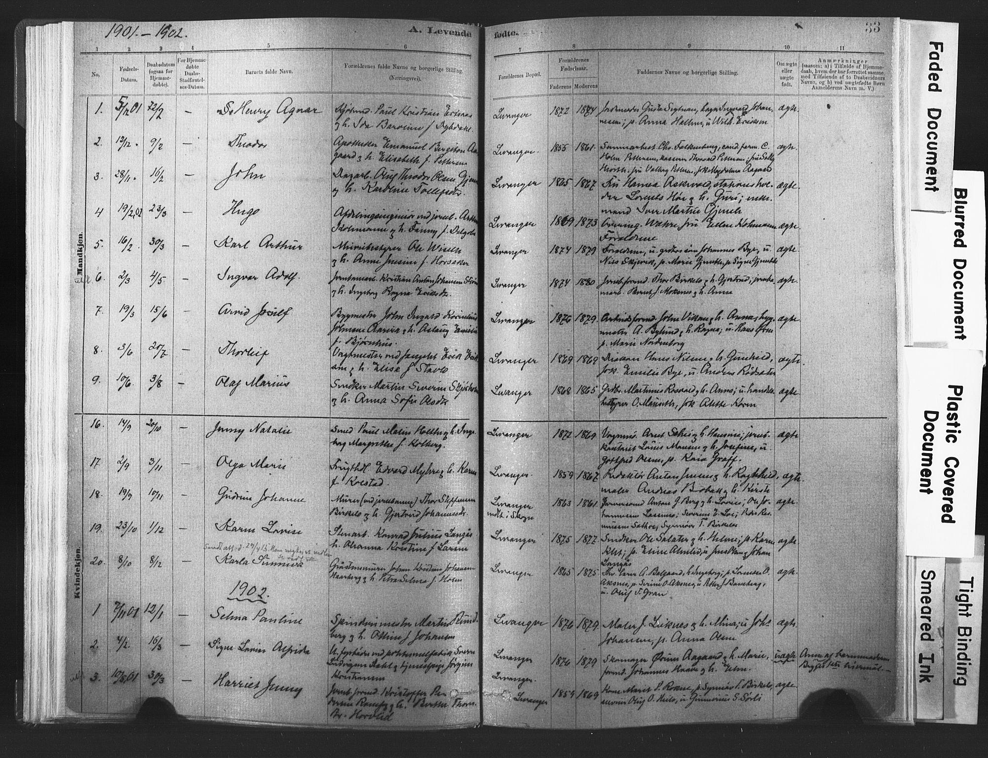 SAT, Ministerialprotokoller, klokkerbøker og fødselsregistre - Nord-Trøndelag, 720/L0189: Ministerialbok nr. 720A05, 1880-1911, s. 33