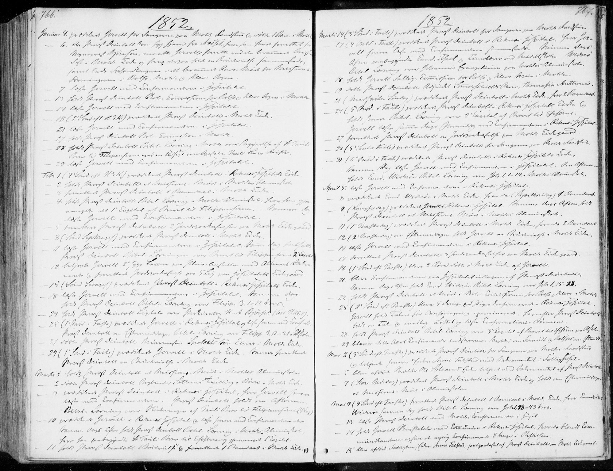SAT, Ministerialprotokoller, klokkerbøker og fødselsregistre - Møre og Romsdal, 558/L0689: Ministerialbok nr. 558A03, 1843-1872, s. 766-767