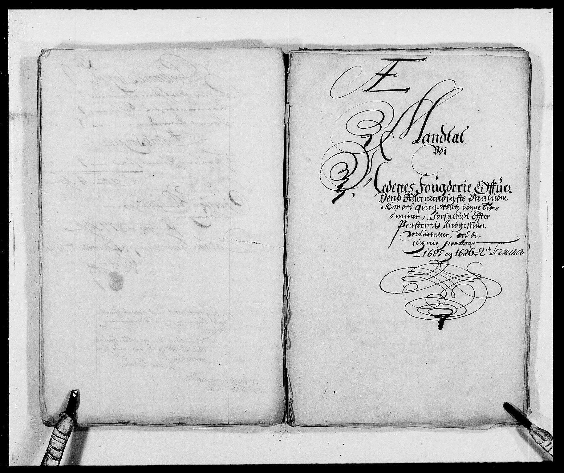 RA, Rentekammeret inntil 1814, Reviderte regnskaper, Fogderegnskap, R39/L2308: Fogderegnskap Nedenes, 1684-1689, s. 401
