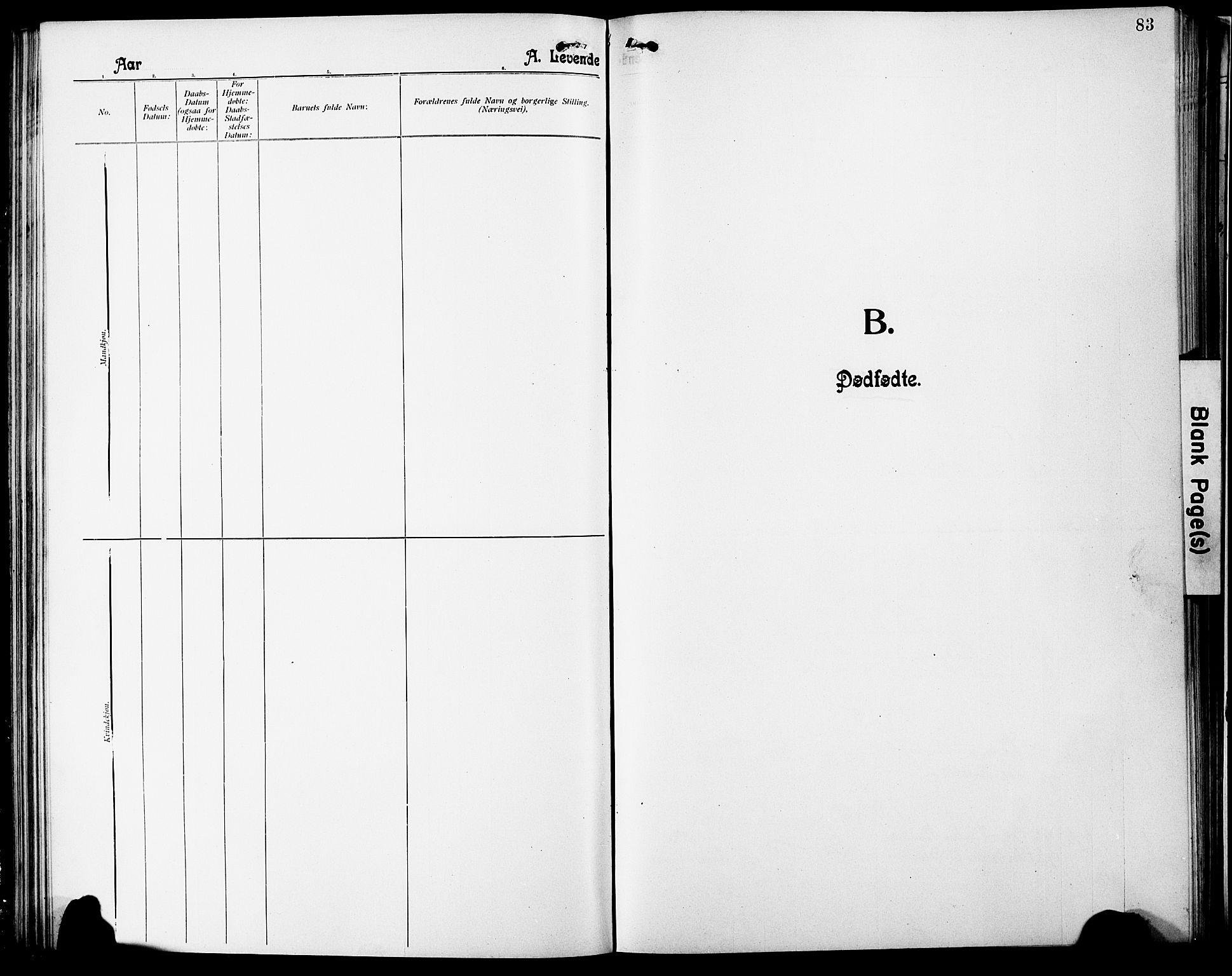 SAT, Ministerialprotokoller, klokkerbøker og fødselsregistre - Nordland, 803/L0077: Klokkerbok nr. 803C04, 1897-1930, s. 83
