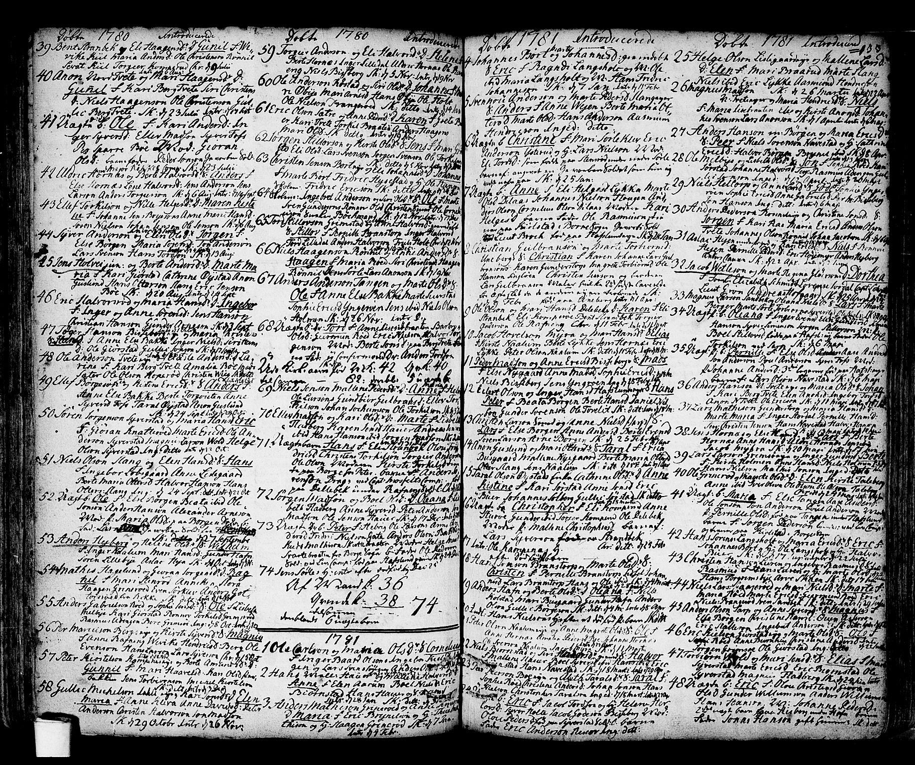 SAO, Skjeberg prestekontor Kirkebøker, F/Fa/L0002: Ministerialbok nr. I 2, 1726-1791, s. 133