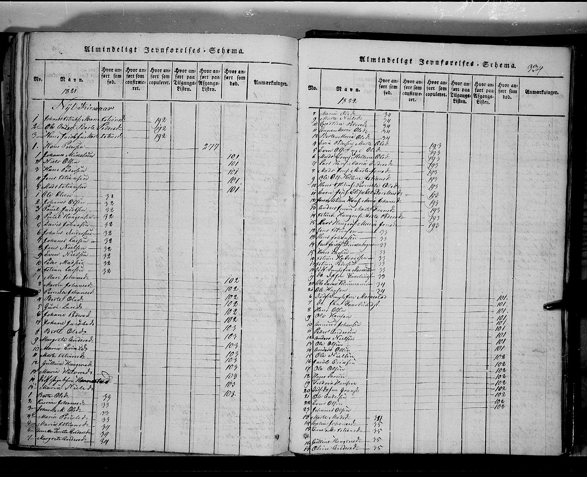 SAH, Toten prestekontor, Klokkerbok nr. 2, 1820-1827, s. 334