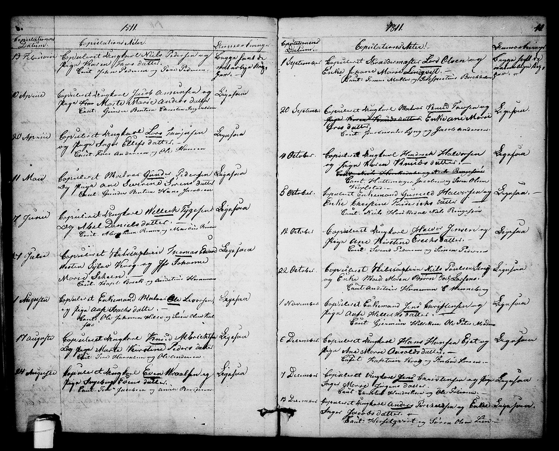 SAKO, Kragerø kirkebøker, F/Fa/L0003: Ministerialbok nr. 3, 1802-1813, s. 41