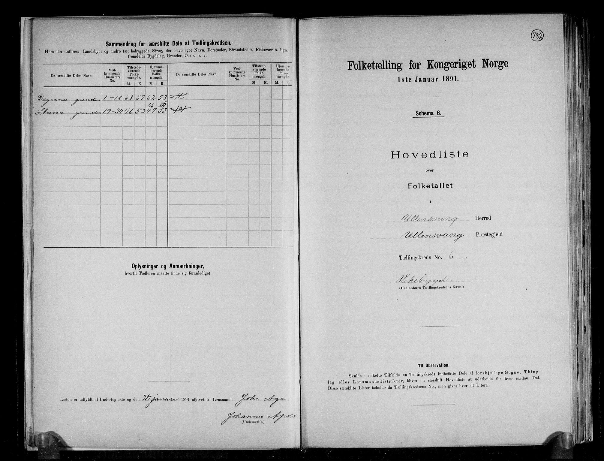 RA, Folketelling 1891 for 1230 Ullensvang herred, 1891, s. 18