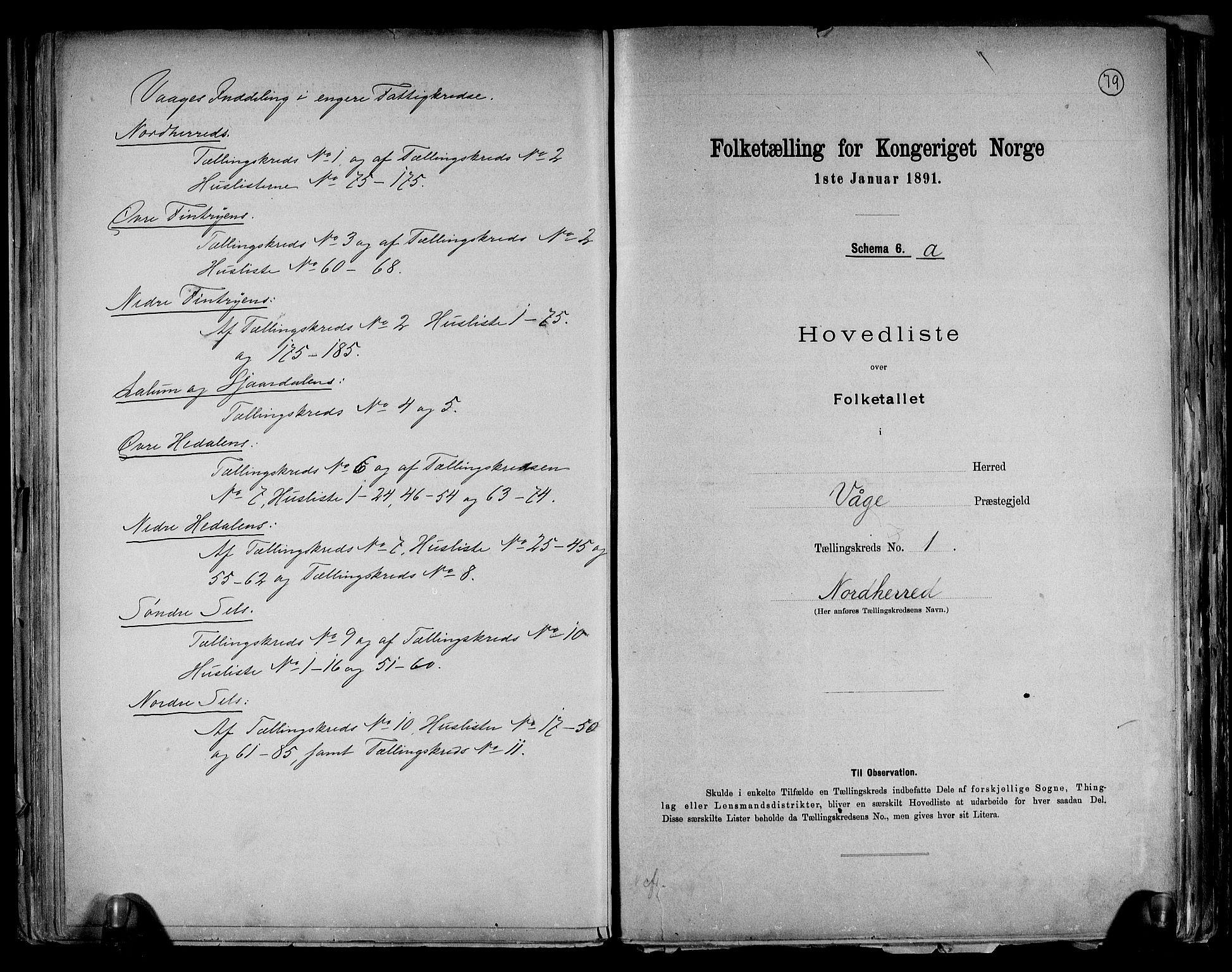 RA, Folketelling 1891 for 0515 Vågå herred, 1891, s. 4