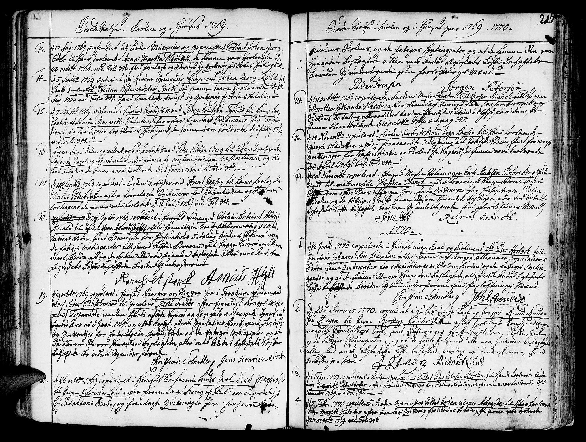 SAT, Ministerialprotokoller, klokkerbøker og fødselsregistre - Sør-Trøndelag, 602/L0103: Ministerialbok nr. 602A01, 1732-1774, s. 217